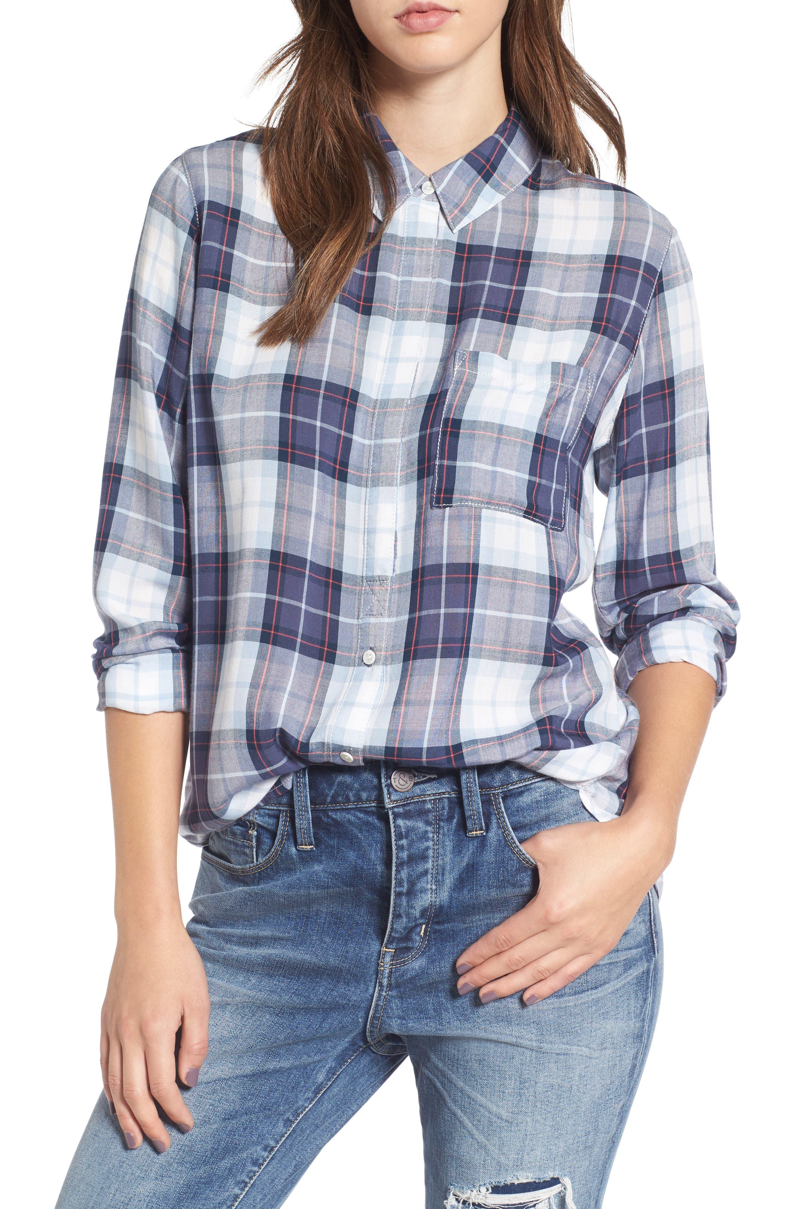 Classic Plaid Shirt,                             Main thumbnail 1, color,                             400