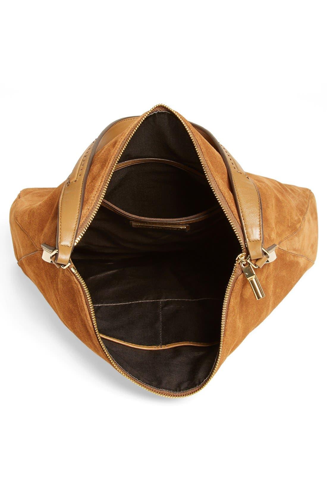 'Pyramid' Leather Hobo,                             Alternate thumbnail 4, color,