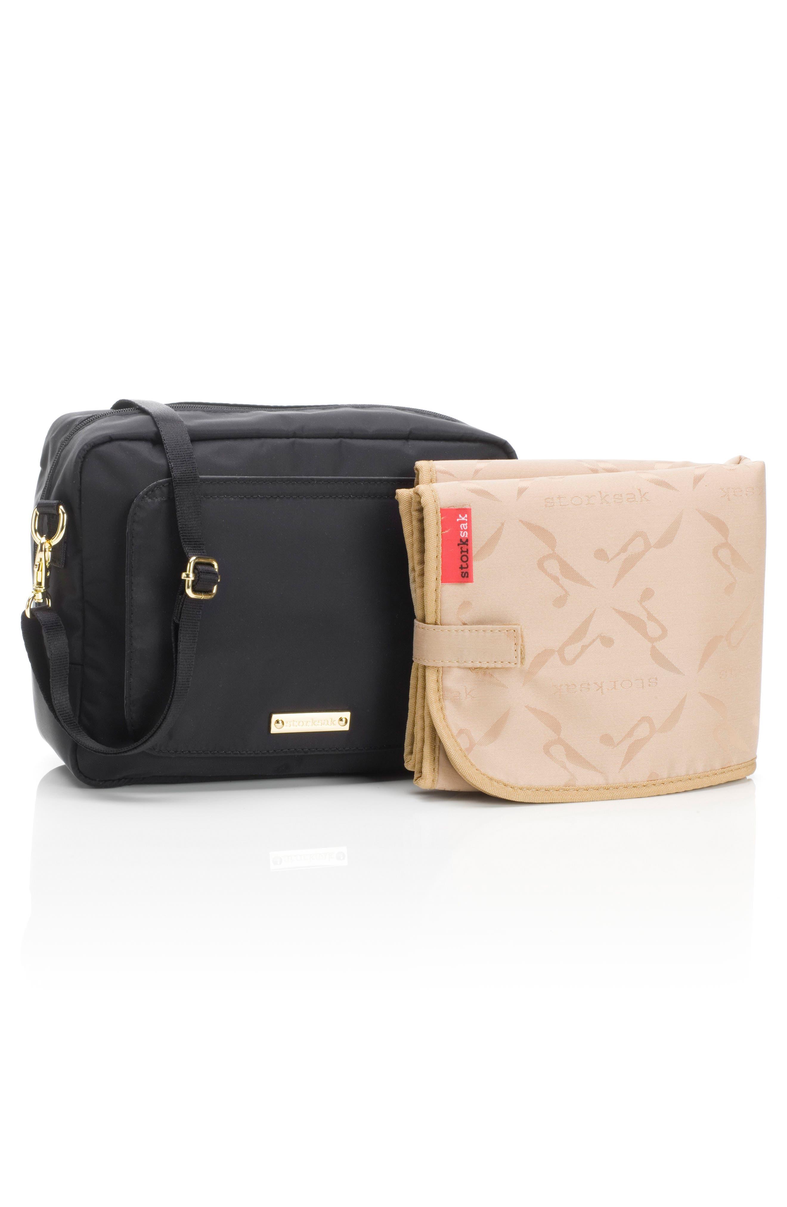 Mini Fix Crossbody Diaper Bag,                             Alternate thumbnail 5, color,                             BLACK