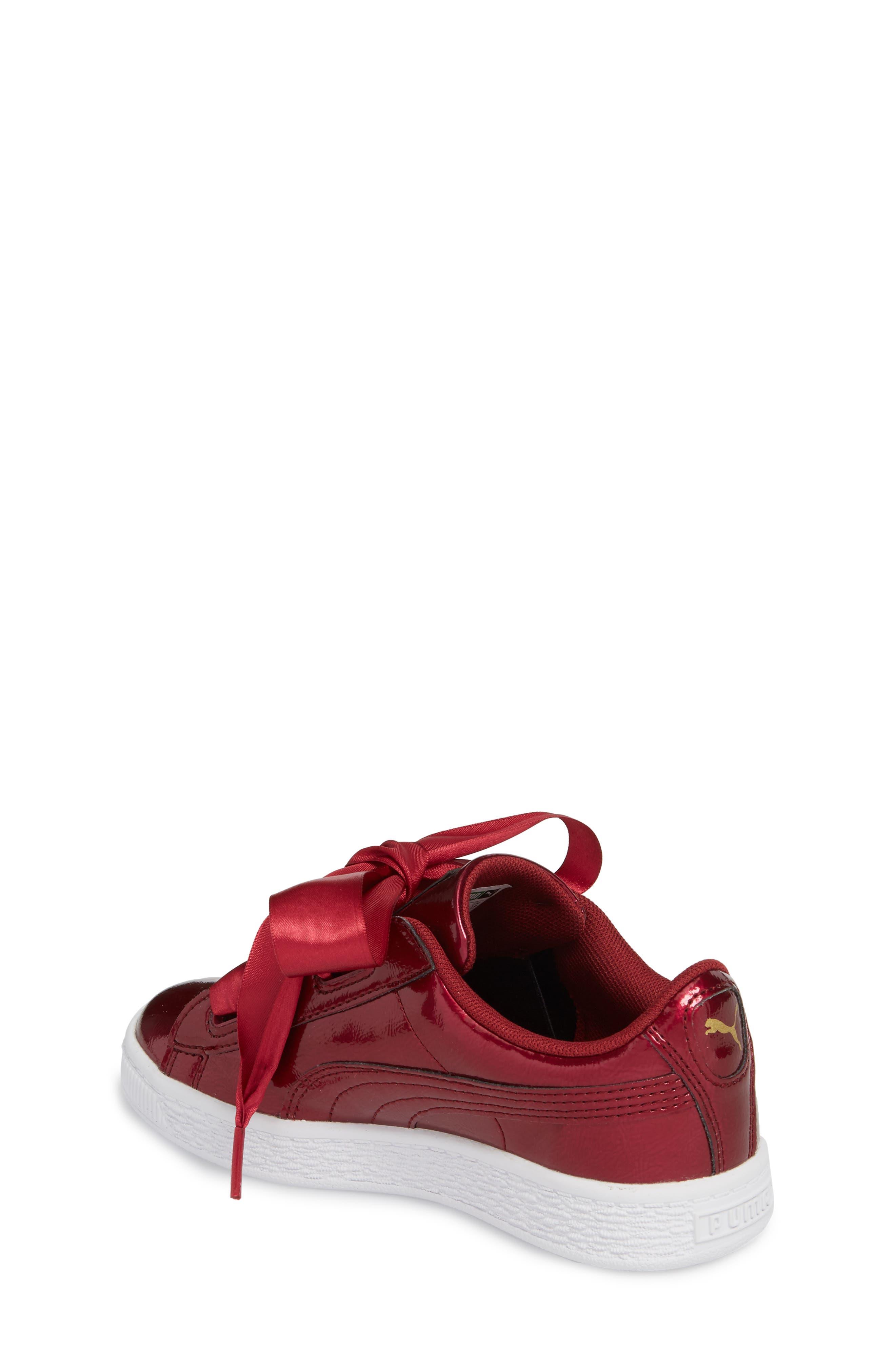 Basket Heart Glam Sneaker,                             Alternate thumbnail 4, color,