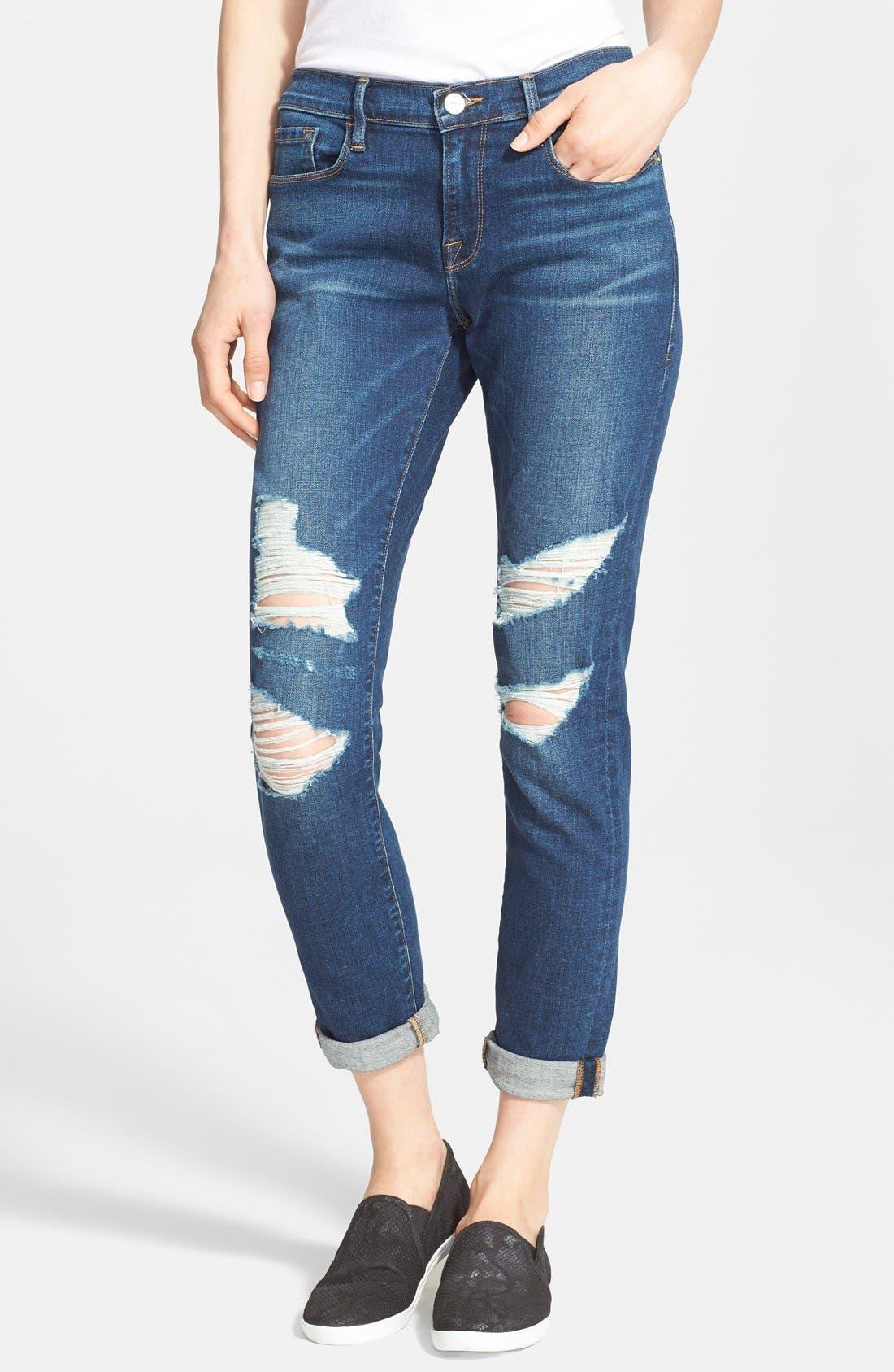 FRAME Denim 'Le Garçon' Boyfriend Jeans, Main, color, 401