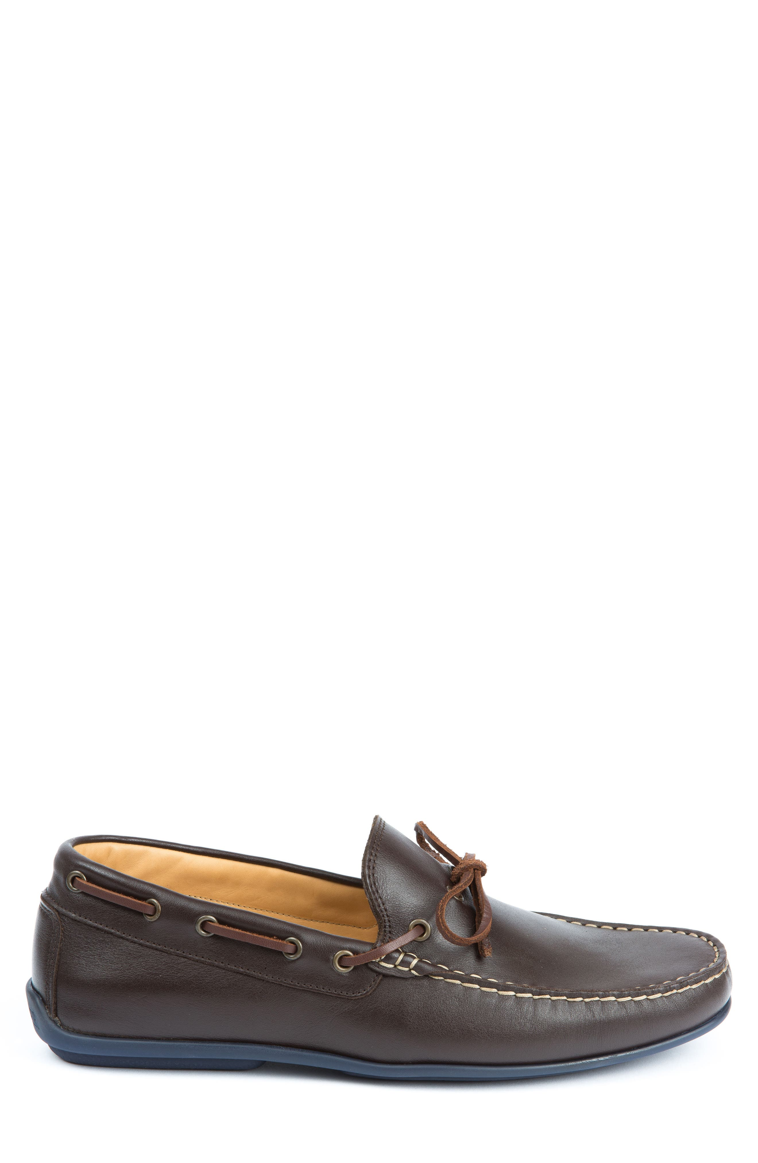 Fillmores Loafer,                             Alternate thumbnail 3, color,                             BROWN LEATHER/ NATURAL/ NAVY