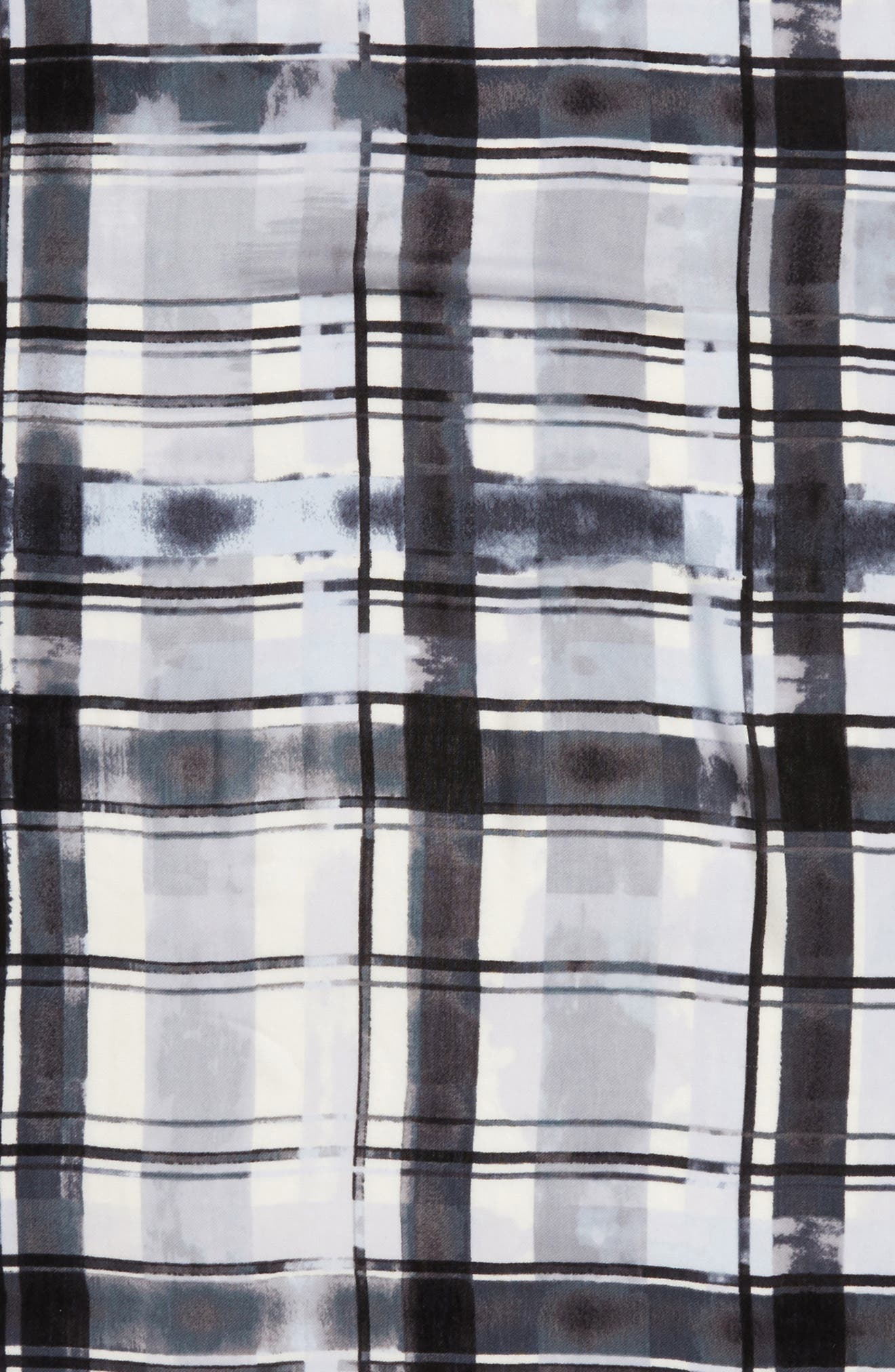 Handicraft Plaid Tissue Weight Wool & Cashmere Scarf,                             Alternate thumbnail 4, color,                             020