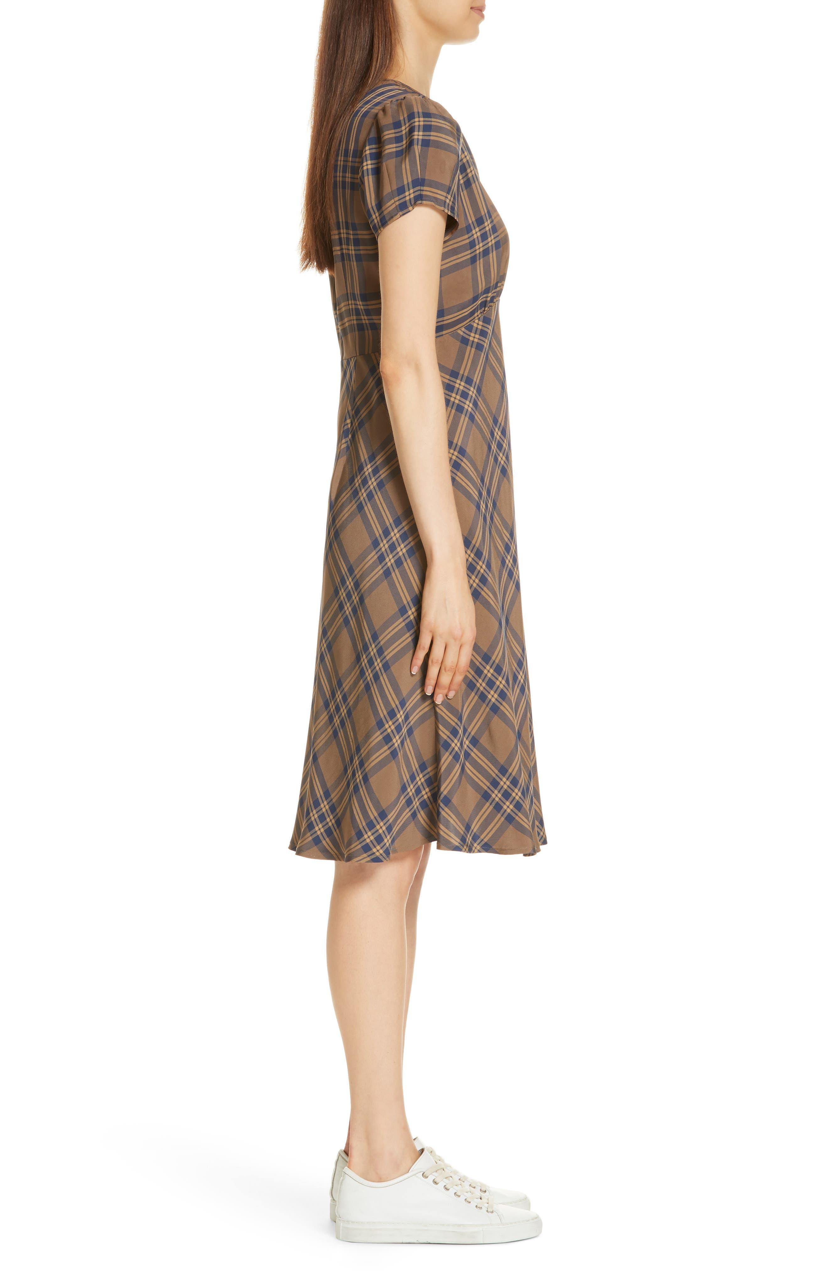 Check Dress,                             Alternate thumbnail 3, color,                             210
