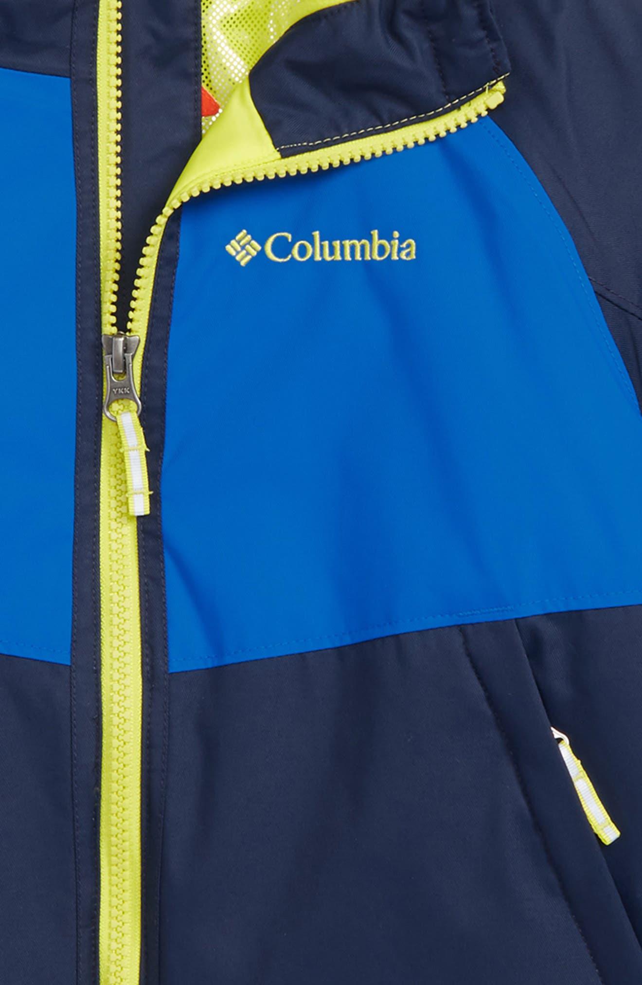 Alpine Action Omni Heat Waterproof Hooded Jacket,                             Alternate thumbnail 2, color,                             COLLEGIATE NAVY SUPER BLUE