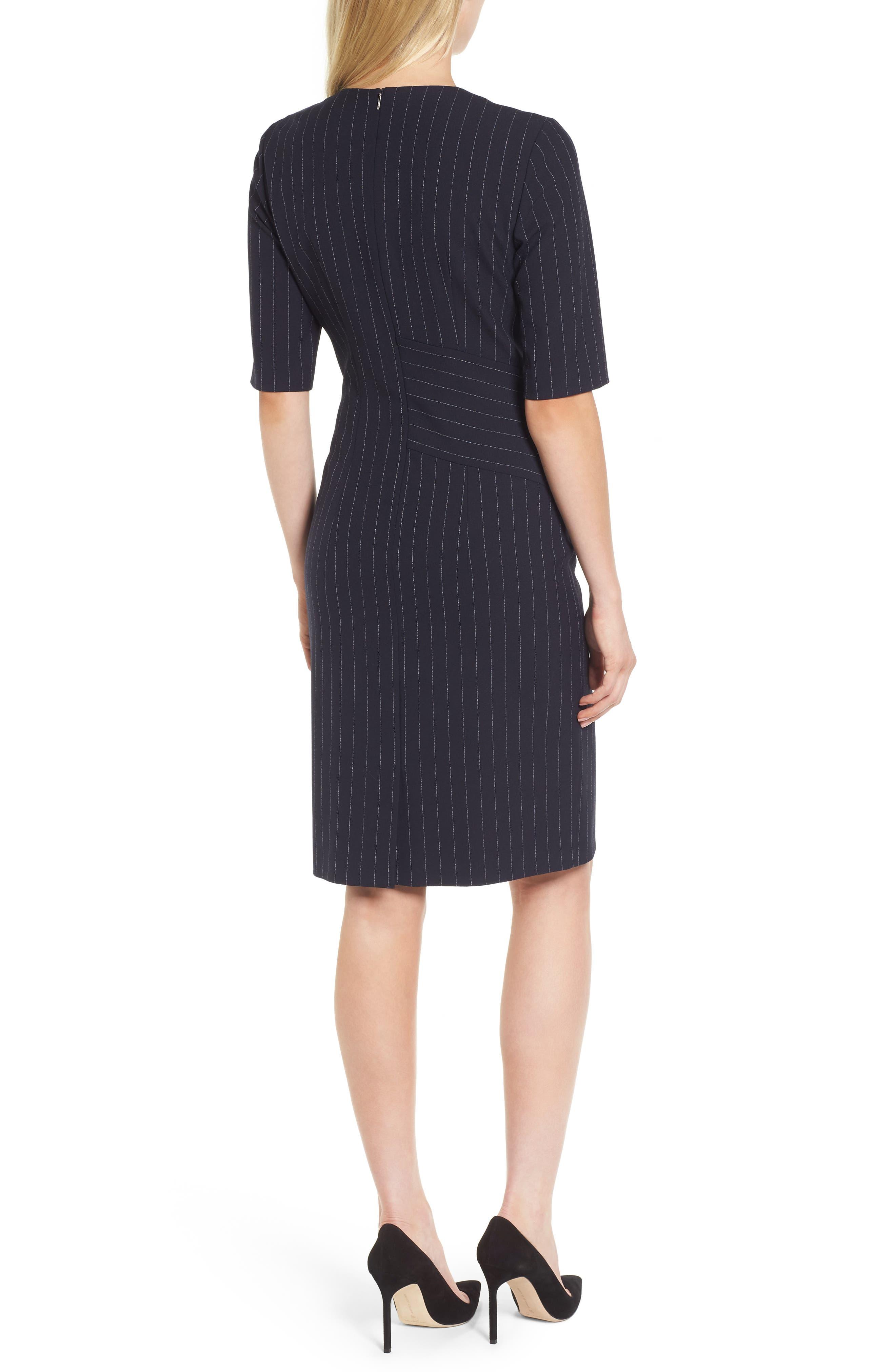 Dalayara Pinstripe Sheath Dress,                             Alternate thumbnail 2, color,                             461