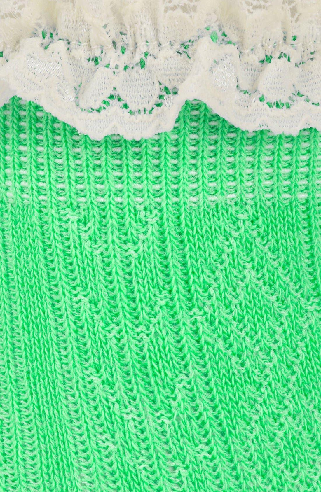 Lace Trim Ankle Socks,                             Alternate thumbnail 33, color,