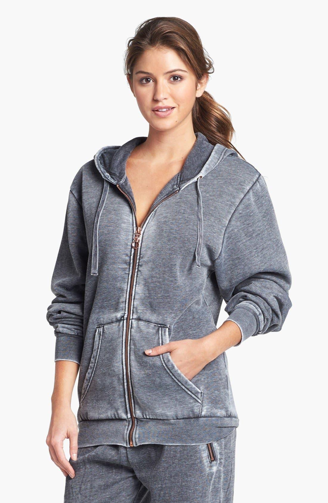 Full Zip Hooded Sweatshirt,                             Alternate thumbnail 3, color,                             020