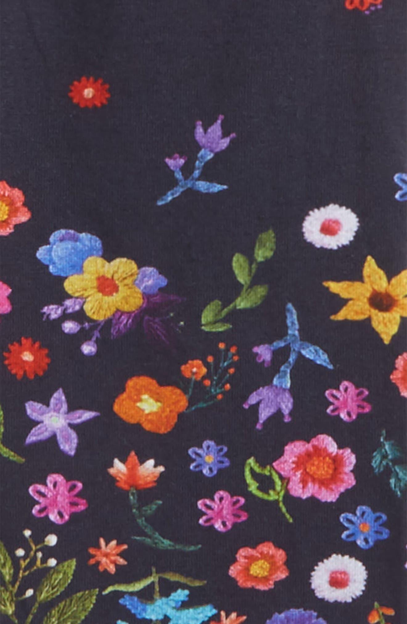 Floral Print Leggings,                             Alternate thumbnail 2, color,