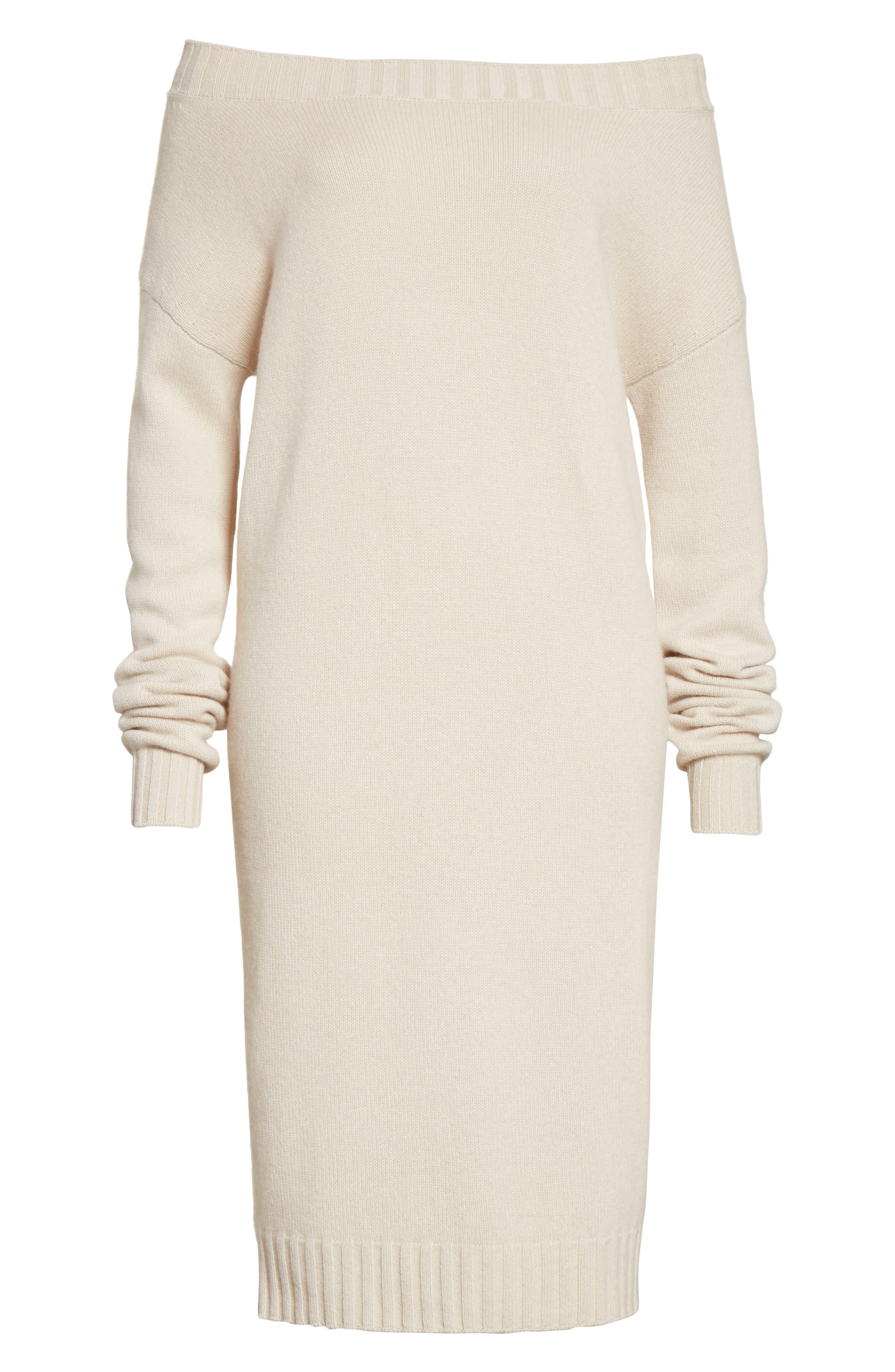Cold Shoulder Wool & Cashmere Sweater Dress,                             Alternate thumbnail 12, color,