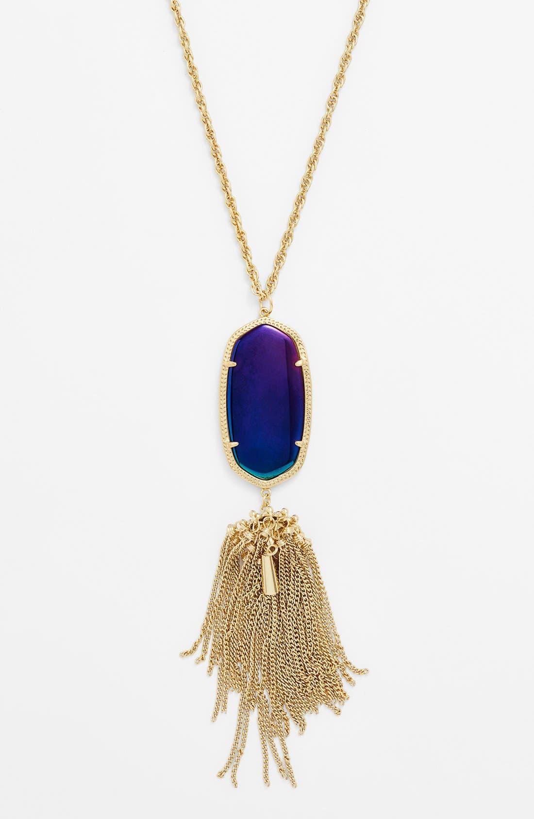 Rayne Stone Tassel Pendant Necklace,                             Alternate thumbnail 104, color,