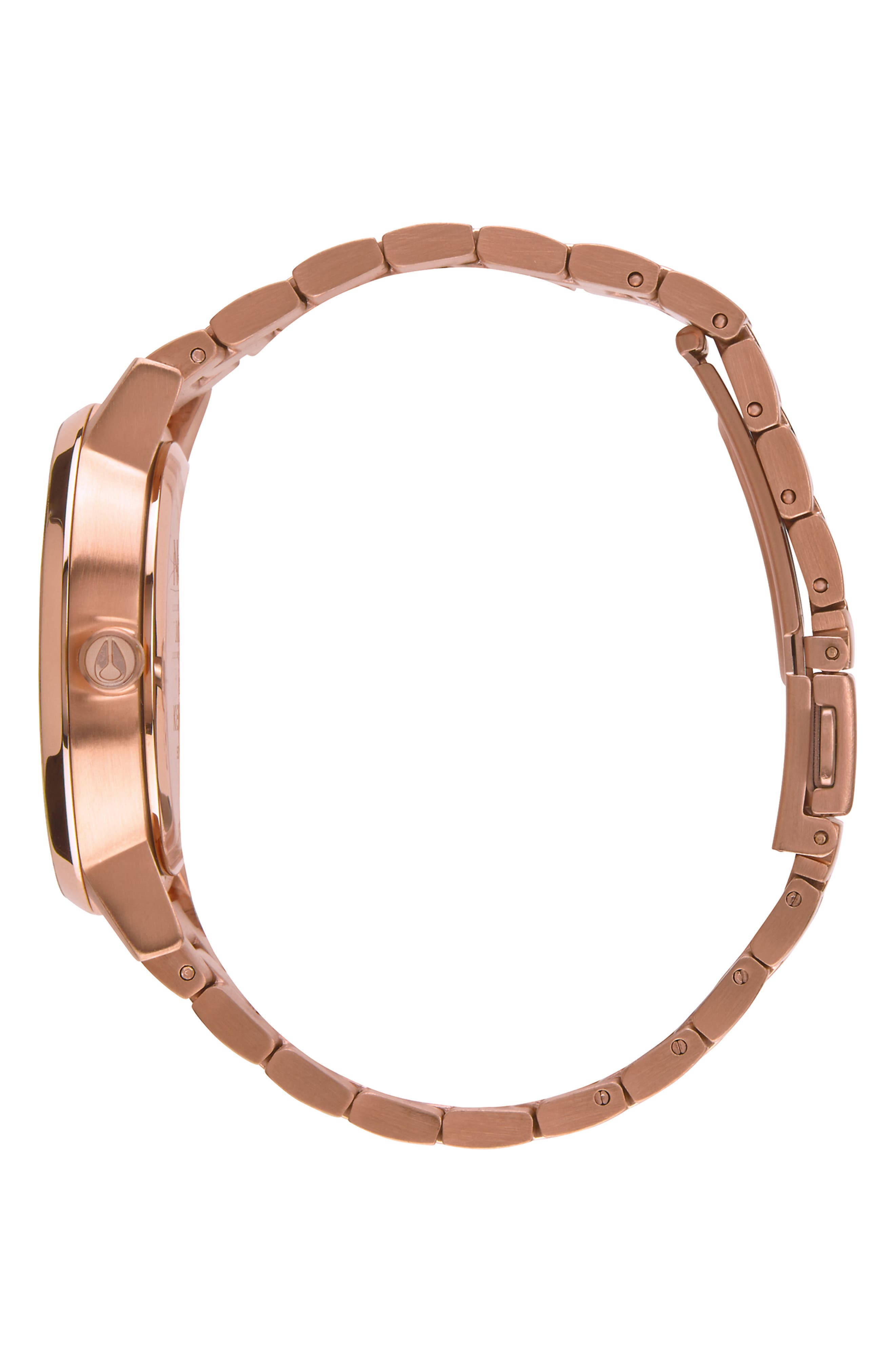 'The Kensington' Bracelet Watch, 37mm,                             Alternate thumbnail 3, color,                             ROSE GOLD/ WHITE