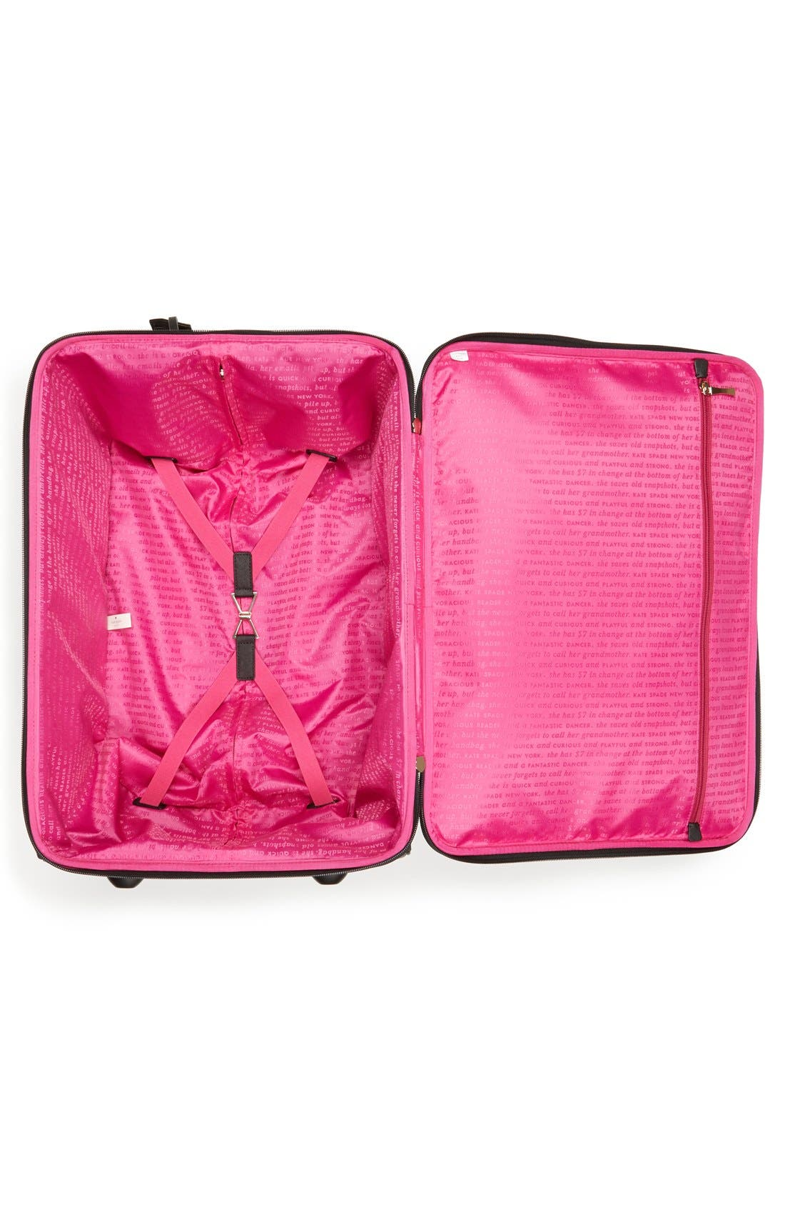 'classic' nylon international two-wheel carry-on suitcase,                             Alternate thumbnail 3, color,                             001