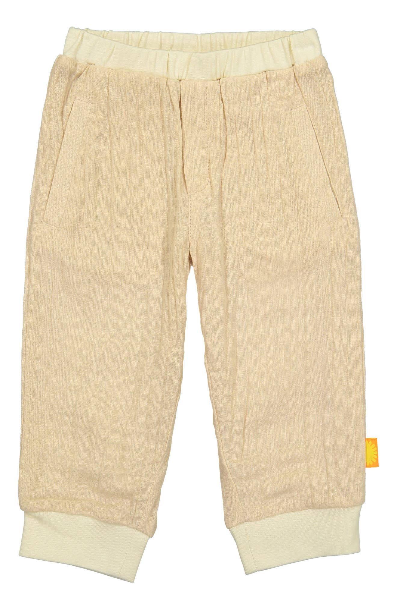 Stretch Organic Cotton Jogger Pants,                             Main thumbnail 1, color,                             SAND