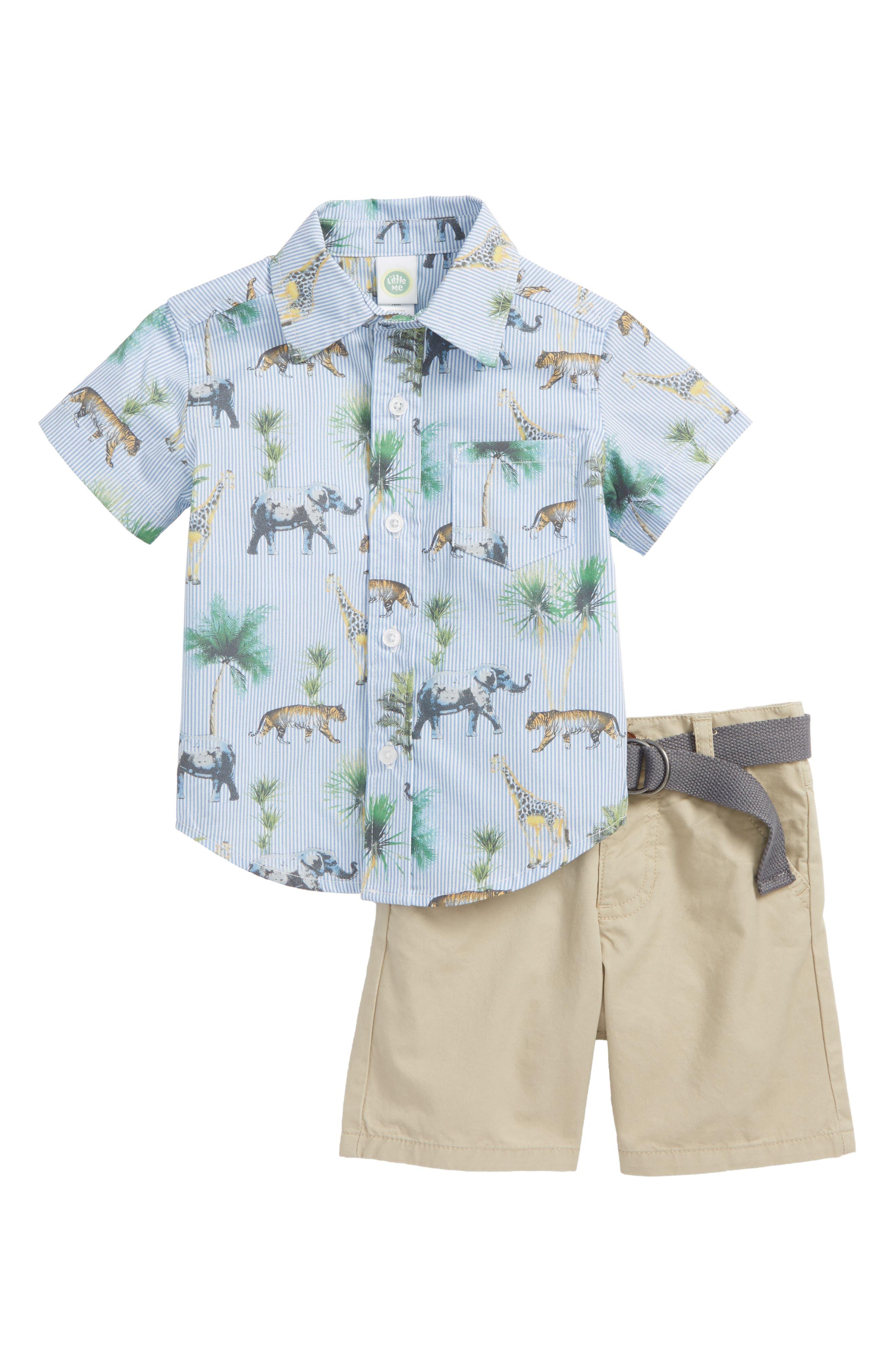 Safari Woven Shirt & Shorts Set,                         Main,                         color, 430