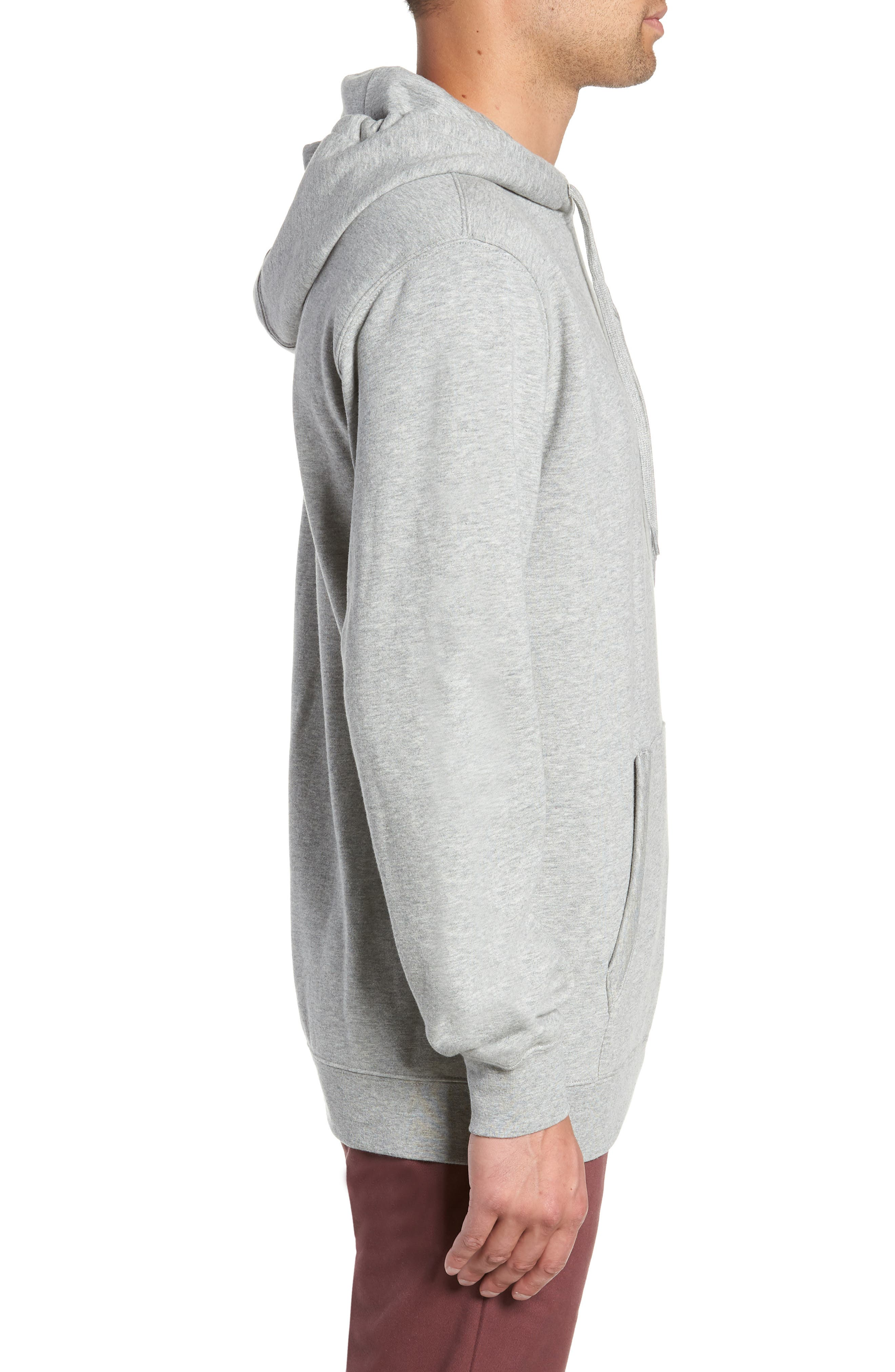 Best in Class Hooded Sweatshirt,                             Alternate thumbnail 3, color,                             CEMENT HEATHER