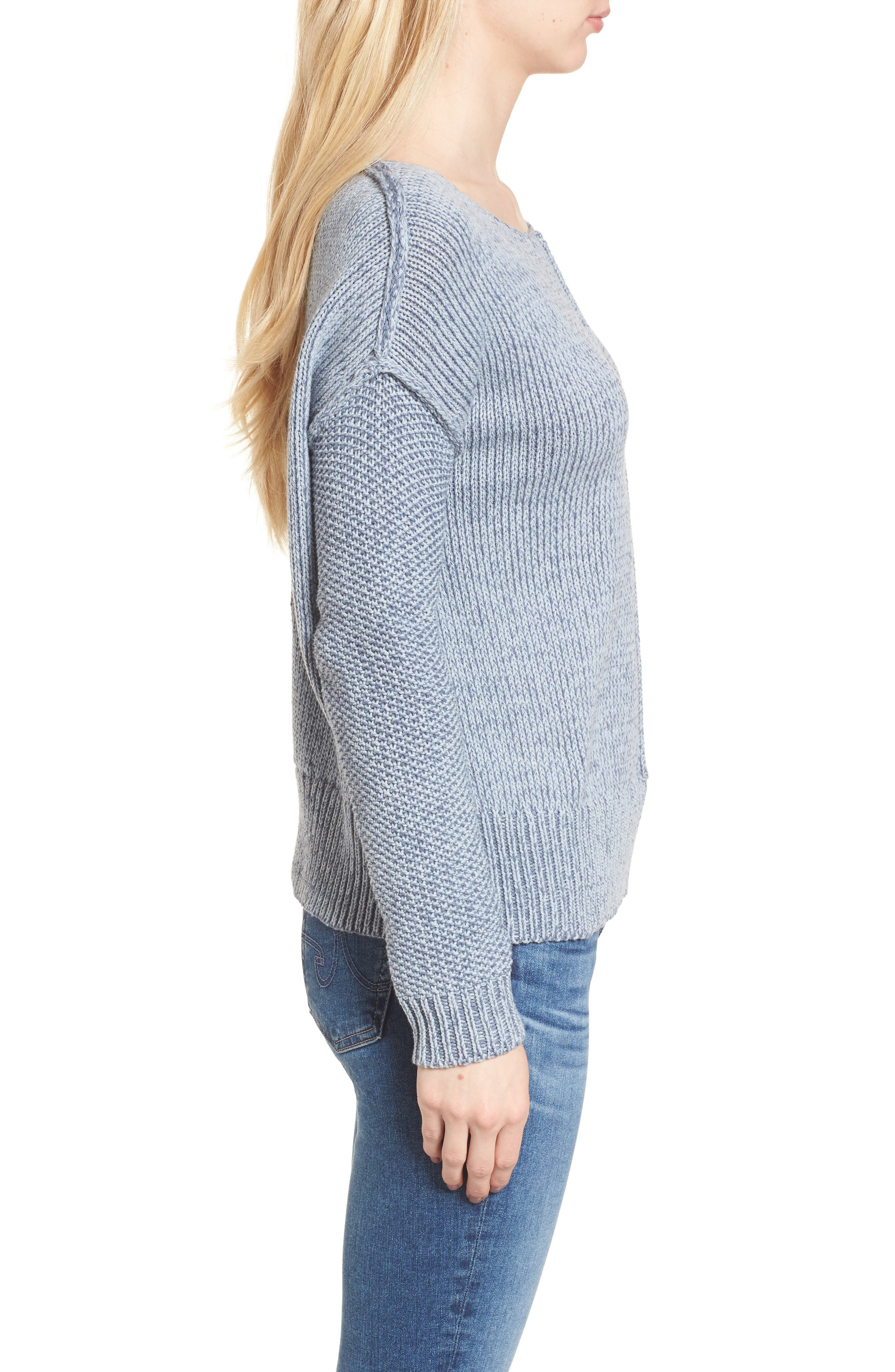 Lola Reversible Twist Sweater,                             Alternate thumbnail 8, color,
