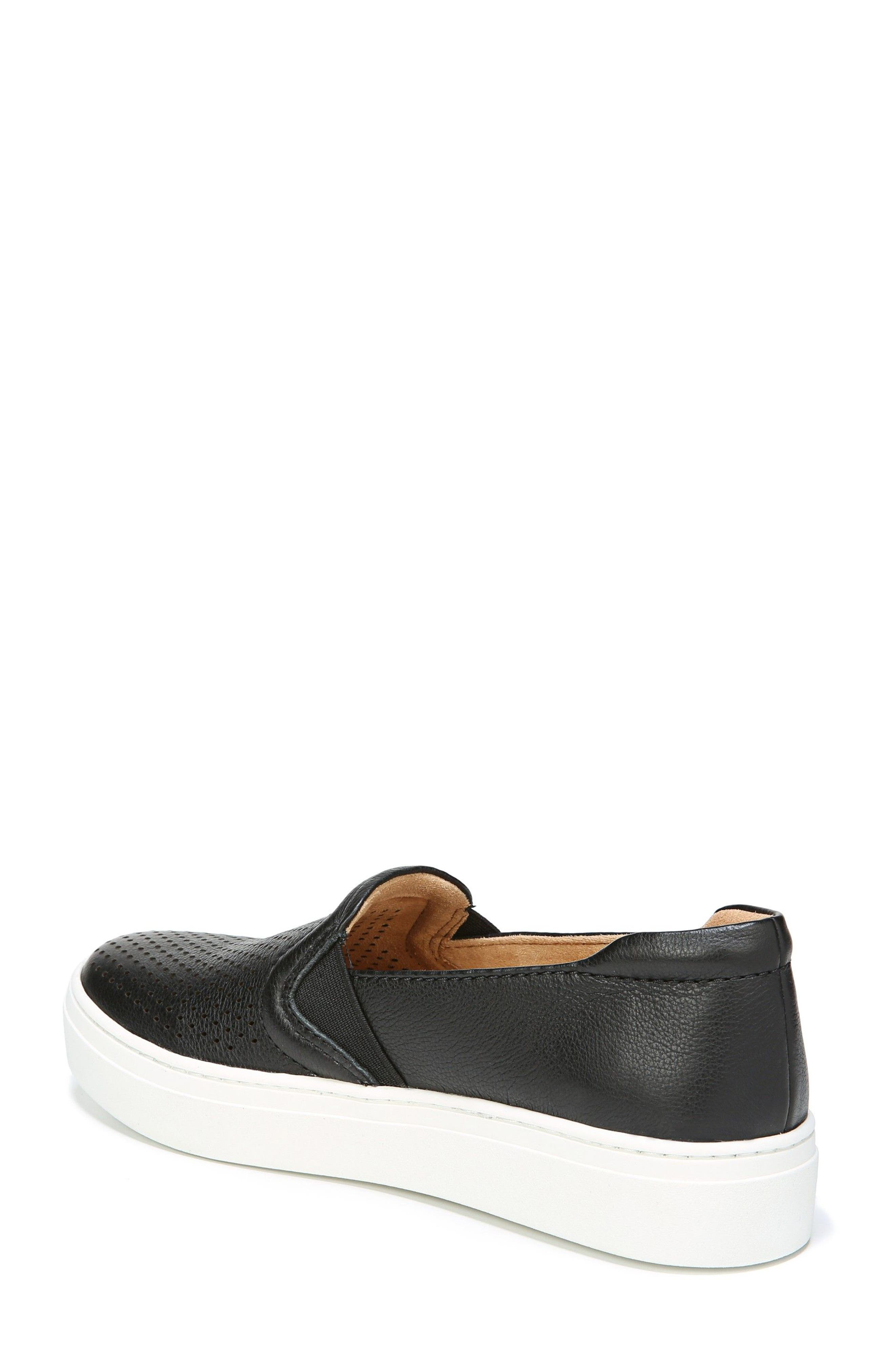 Carly Slip-On Sneaker,                             Alternate thumbnail 2, color,                             BLACK PEBBLED LEATHER
