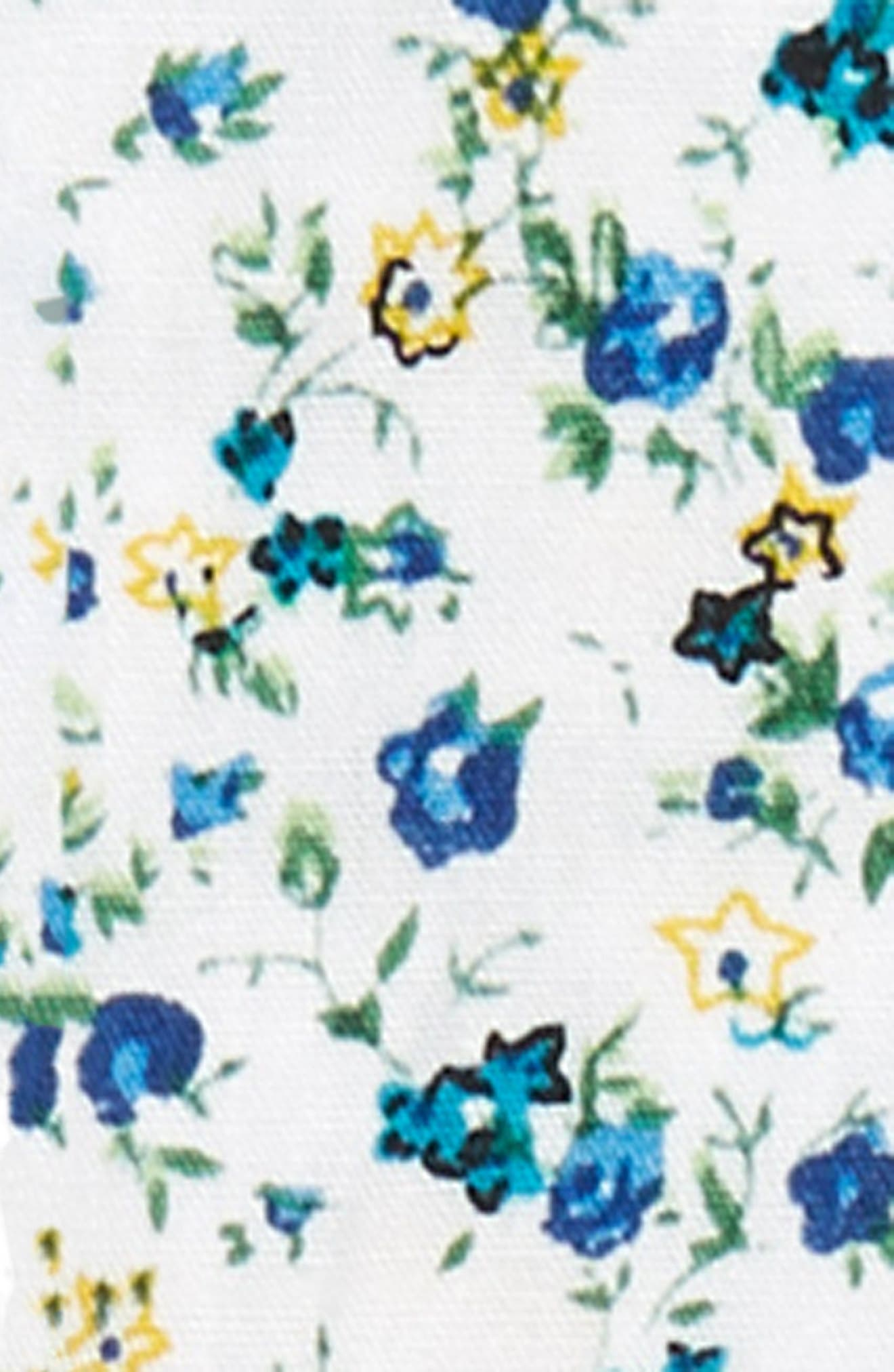 Floral Cotton Suspenders,                             Alternate thumbnail 2, color,                             BLUE HYDRANGEA