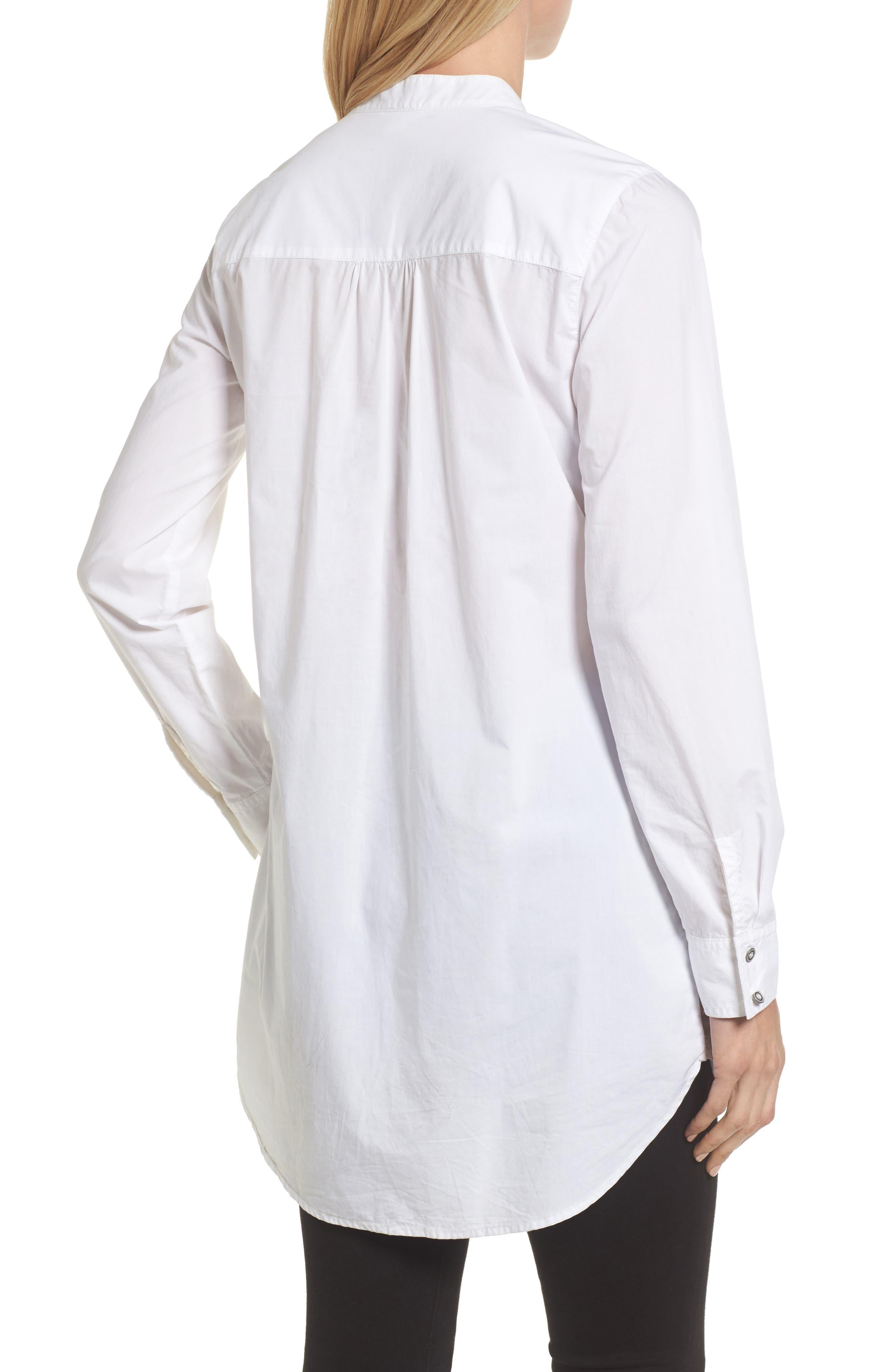 Popover Tunic Shirt,                             Alternate thumbnail 2, color,                             100