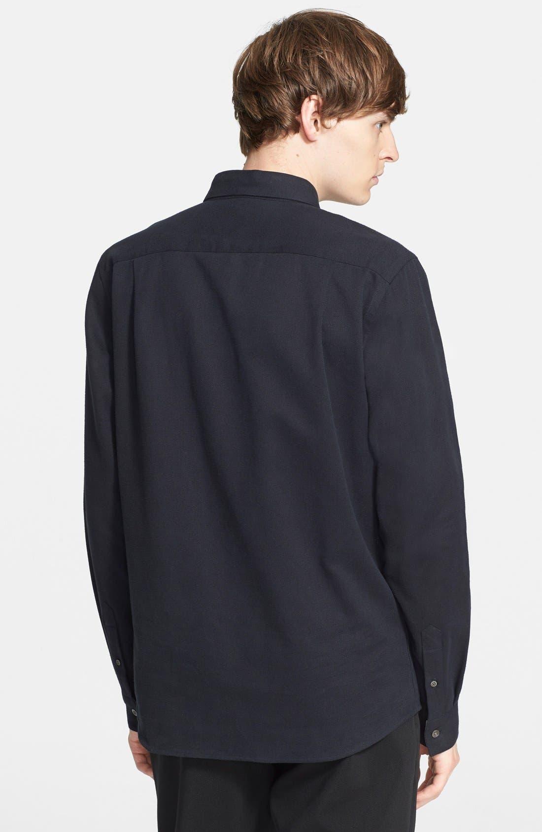 PATRIK ERVELL,                             Heavyweight Cotton Oxford Shirt,                             Alternate thumbnail 2, color,                             001