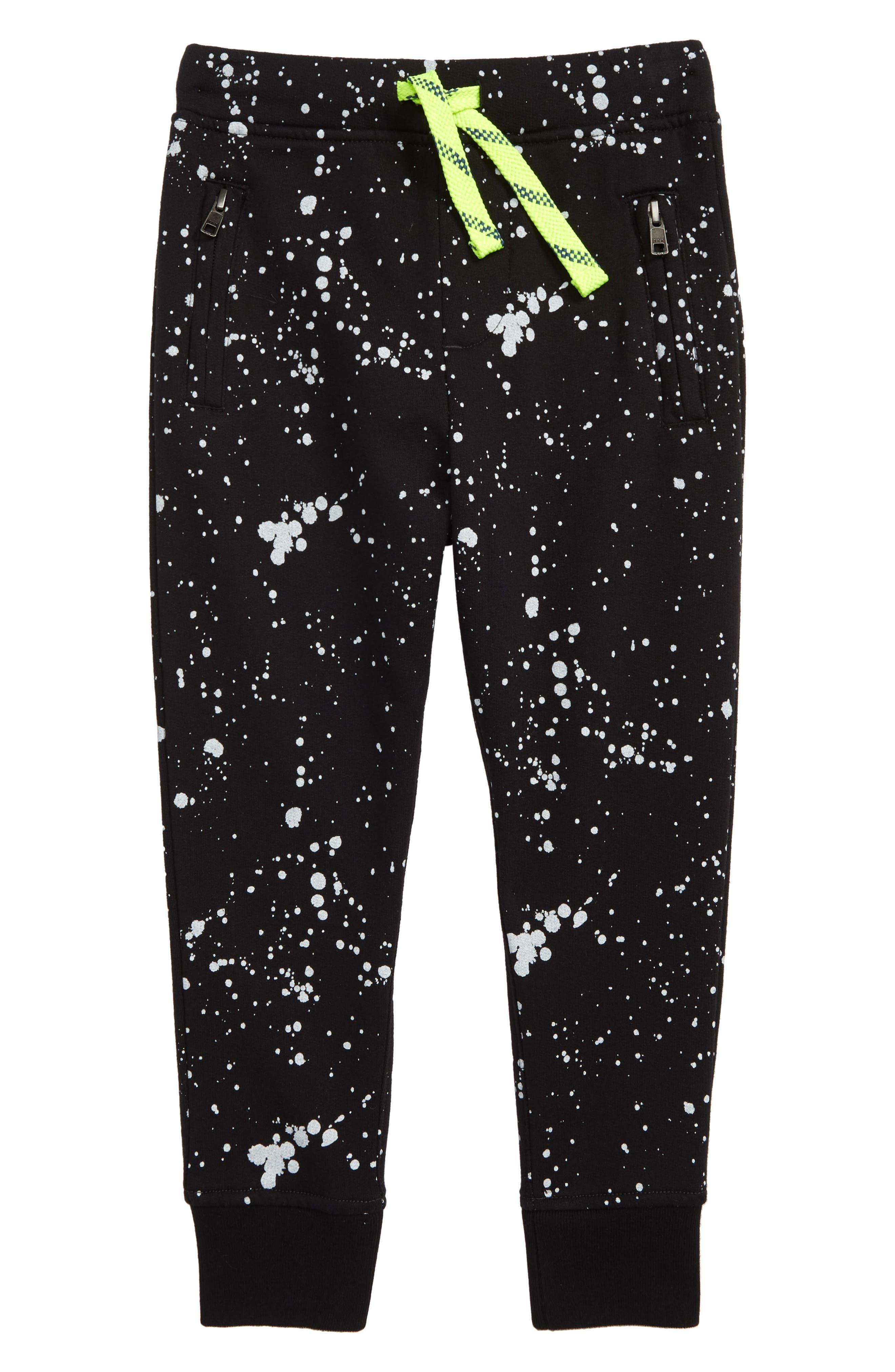 Boys Crewcuts By Jcrew Splatter Painted Sweatpants Size 14  Black