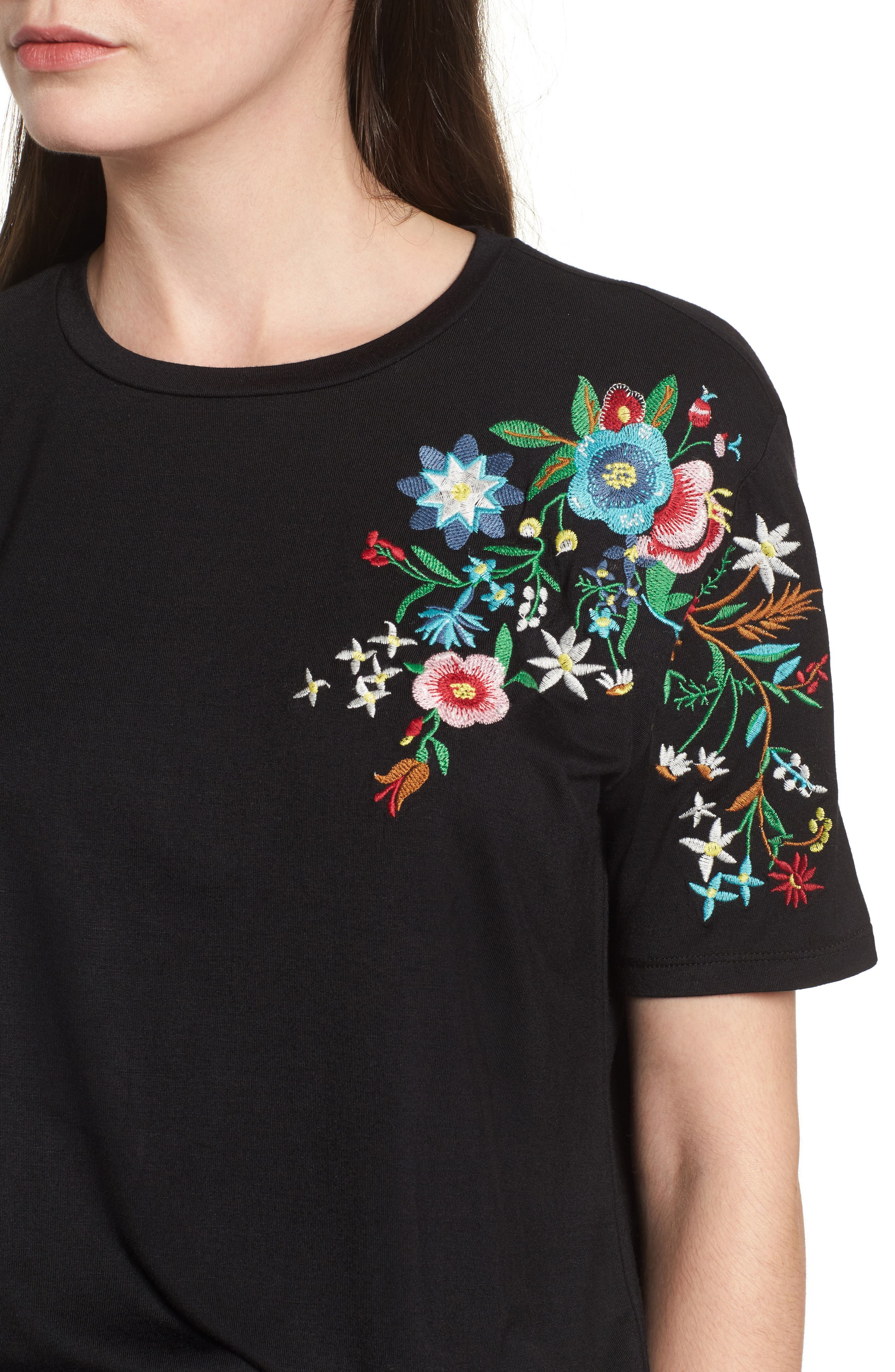 Floral Tee,                             Alternate thumbnail 4, color,