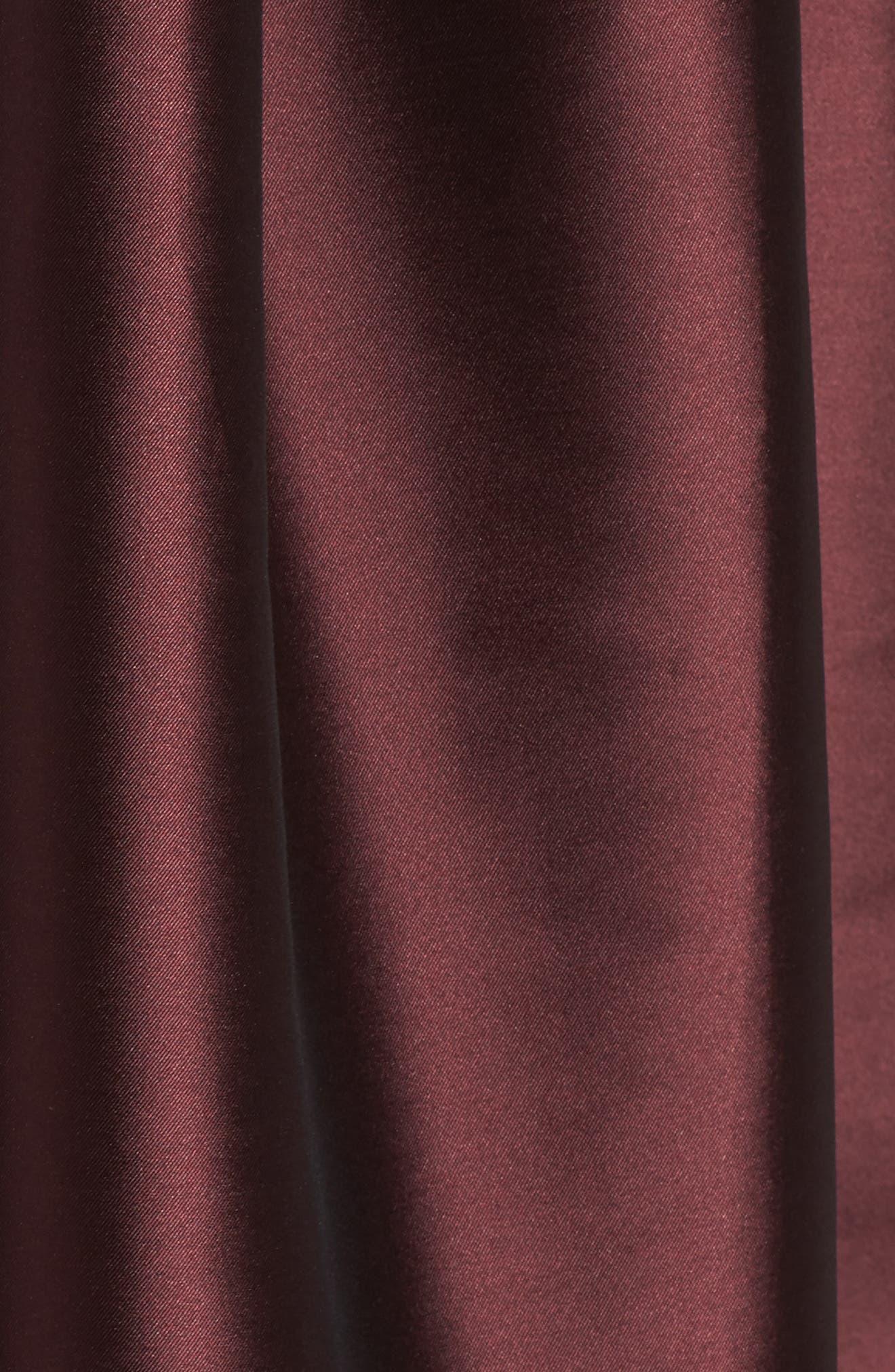Noir Kerala Plunging Mikado Party Dress,                             Alternate thumbnail 5, color,                             931