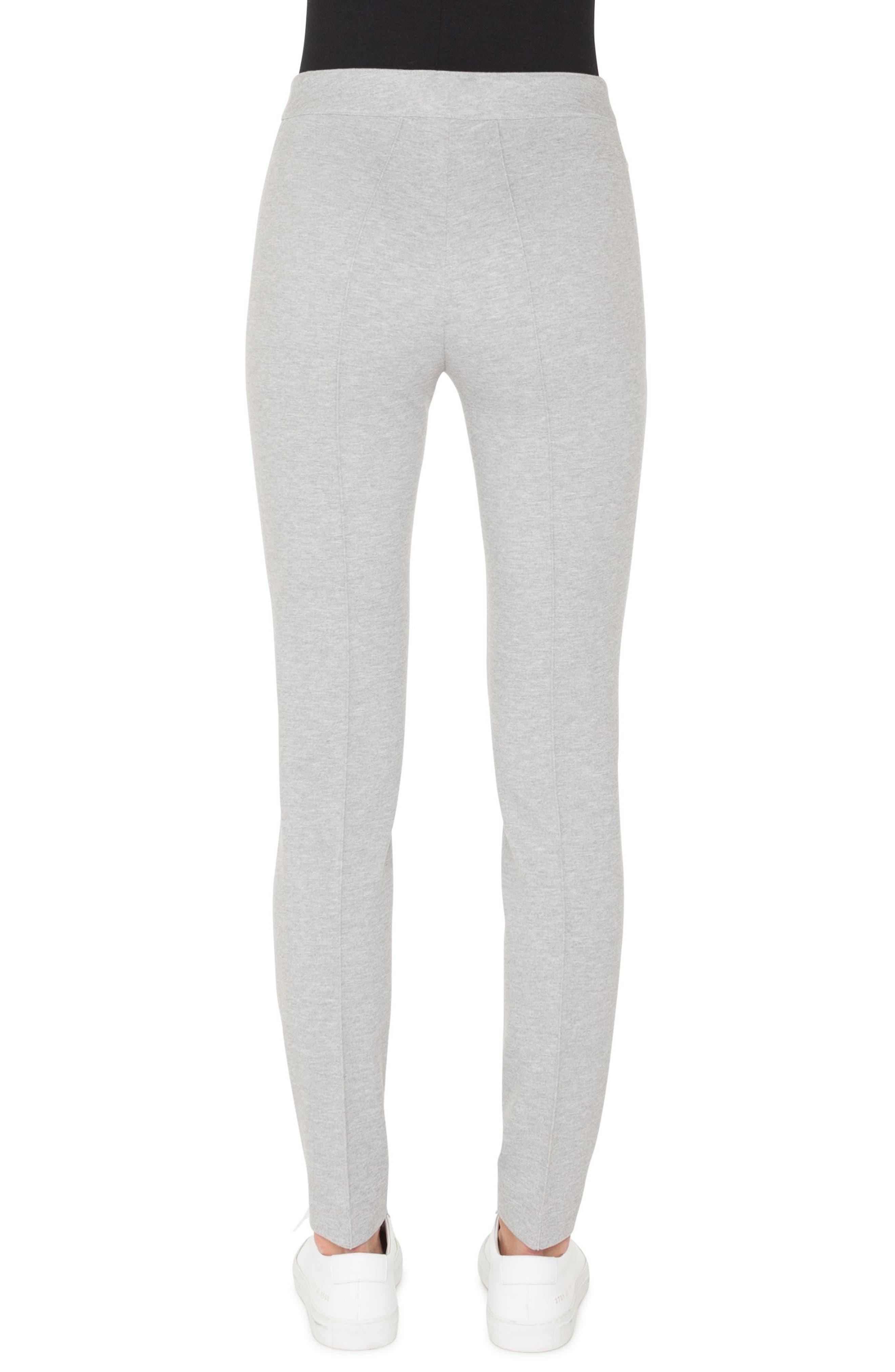 Mara Stretch Jersey Pants,                             Alternate thumbnail 2, color,                             SILVER