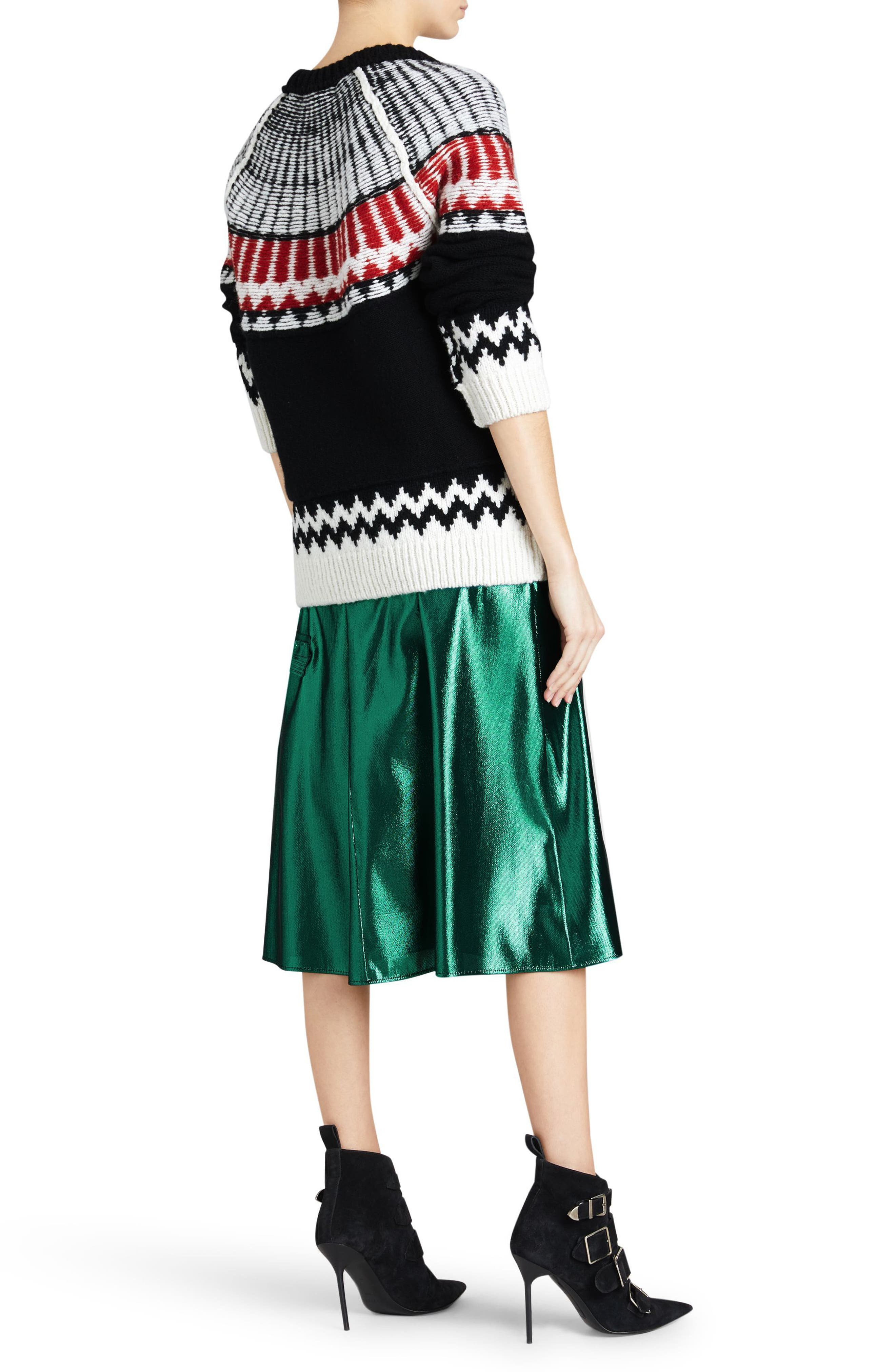 Trycroft Fair Isle Wool Blend Sweater,                             Alternate thumbnail 6, color,                             001