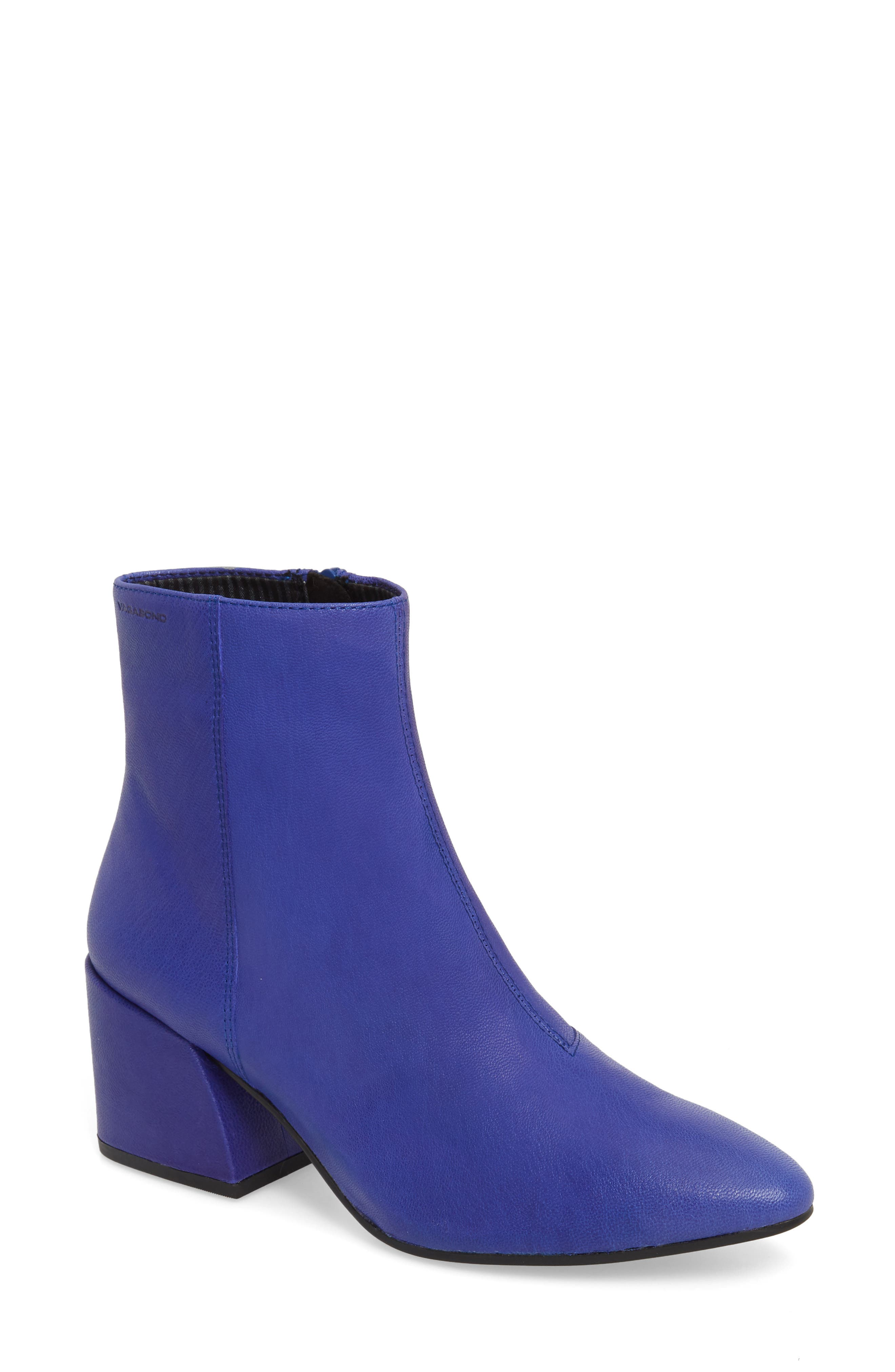Shoemakers Olivia Bootie in Super Blue Leather