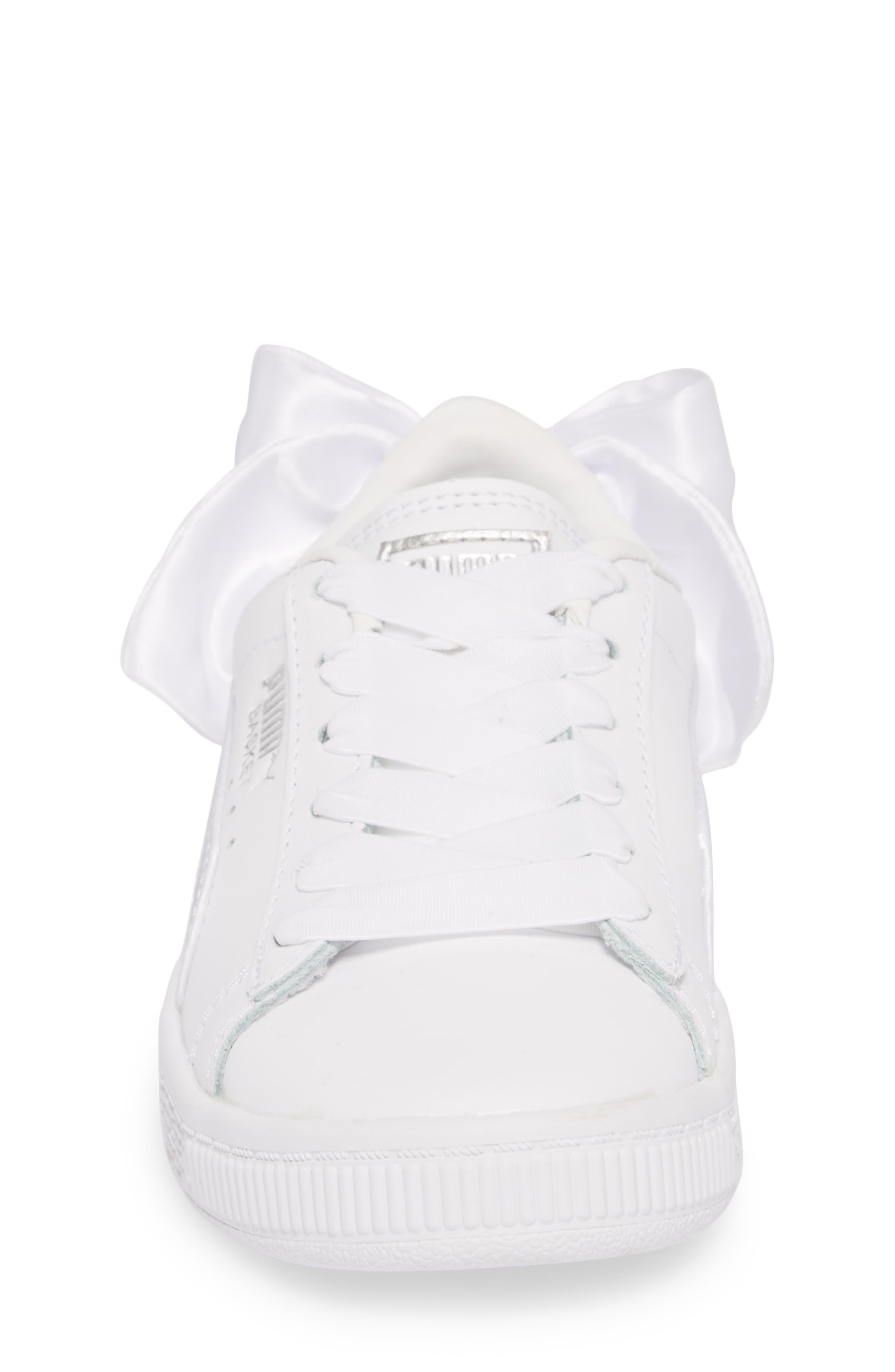 Basket Bow AC Sneaker,                             Alternate thumbnail 4, color,                             100