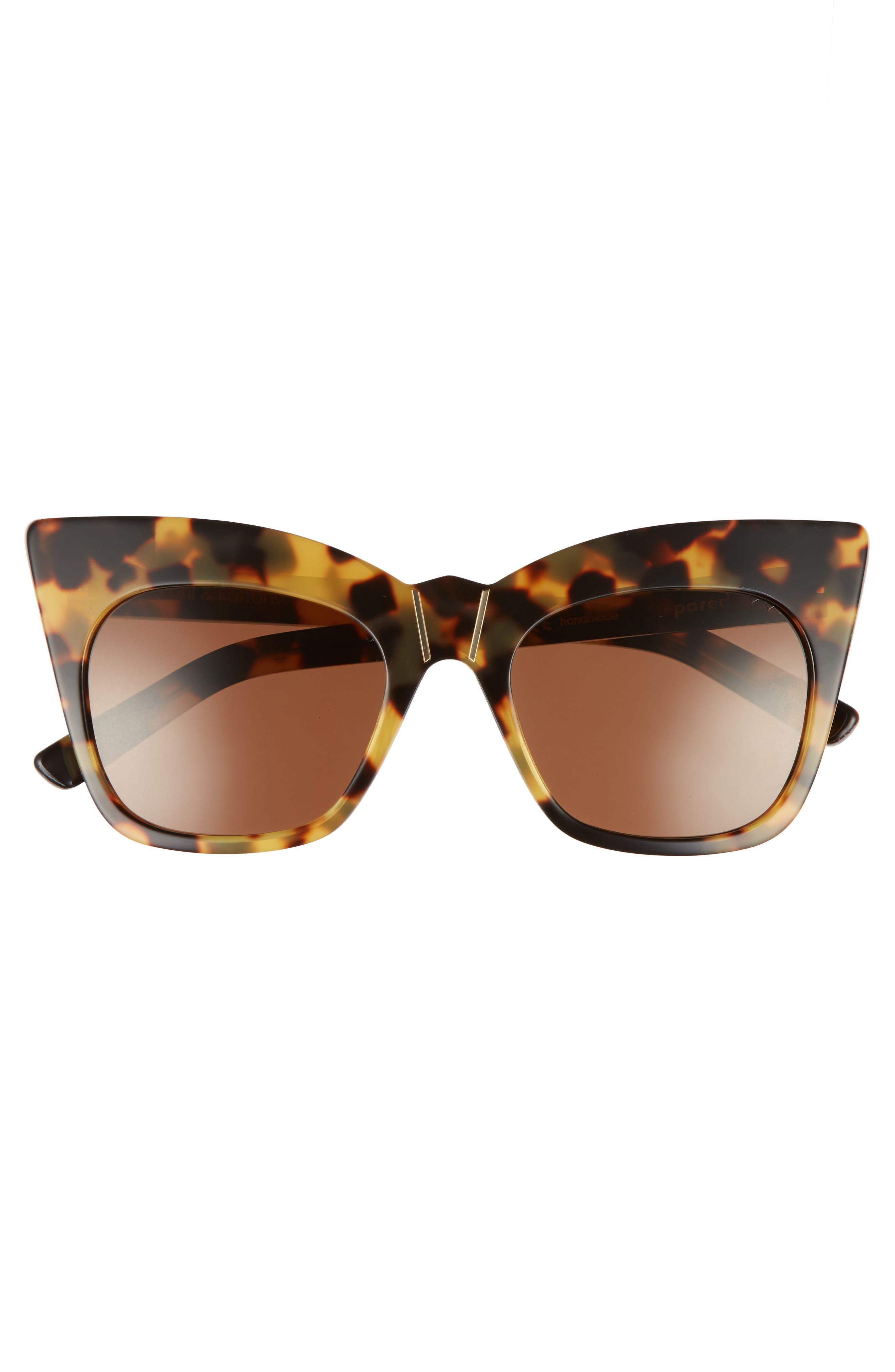 Kohl & Kaftans 52mm Cat Eye Sunglasses,                             Alternate thumbnail 3, color,                             203
