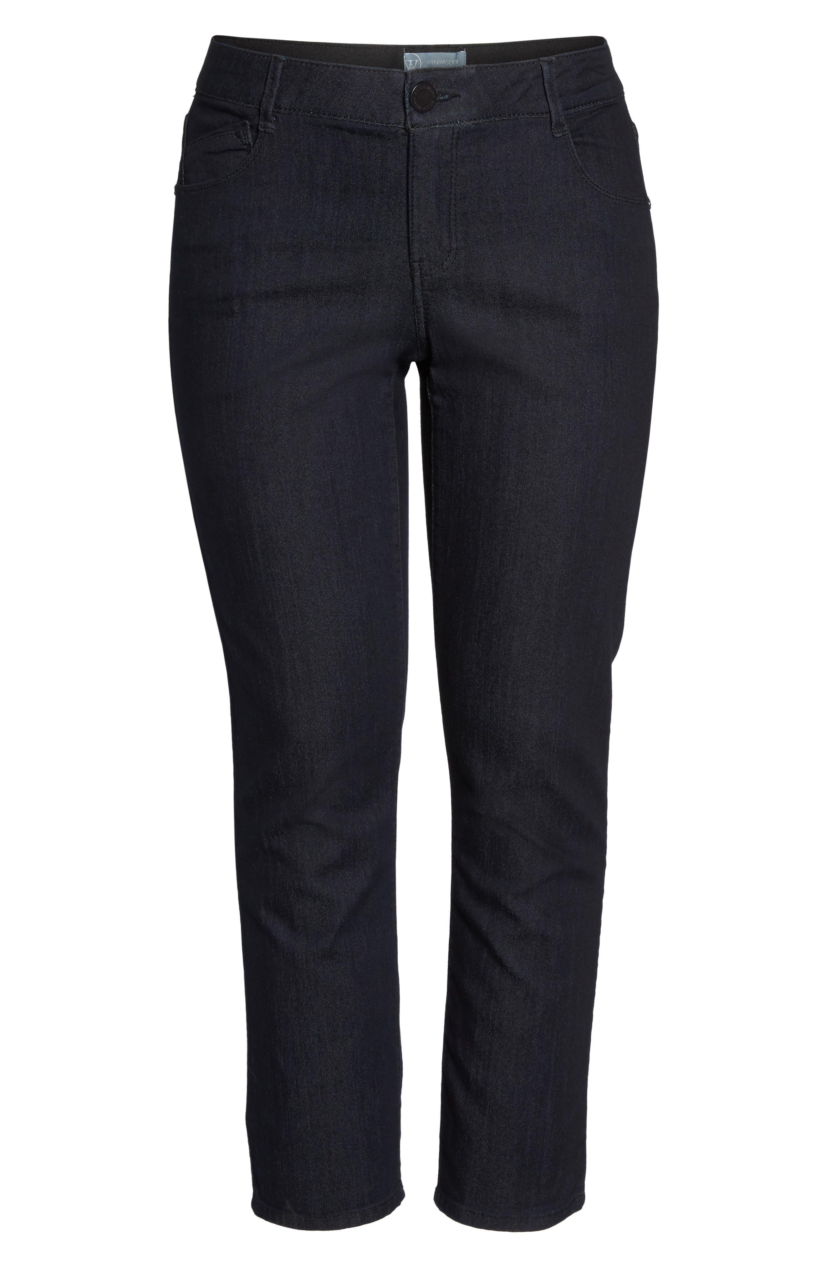 Ab-solution Straight Leg Jeans,                             Alternate thumbnail 7, color,                             INDIGO