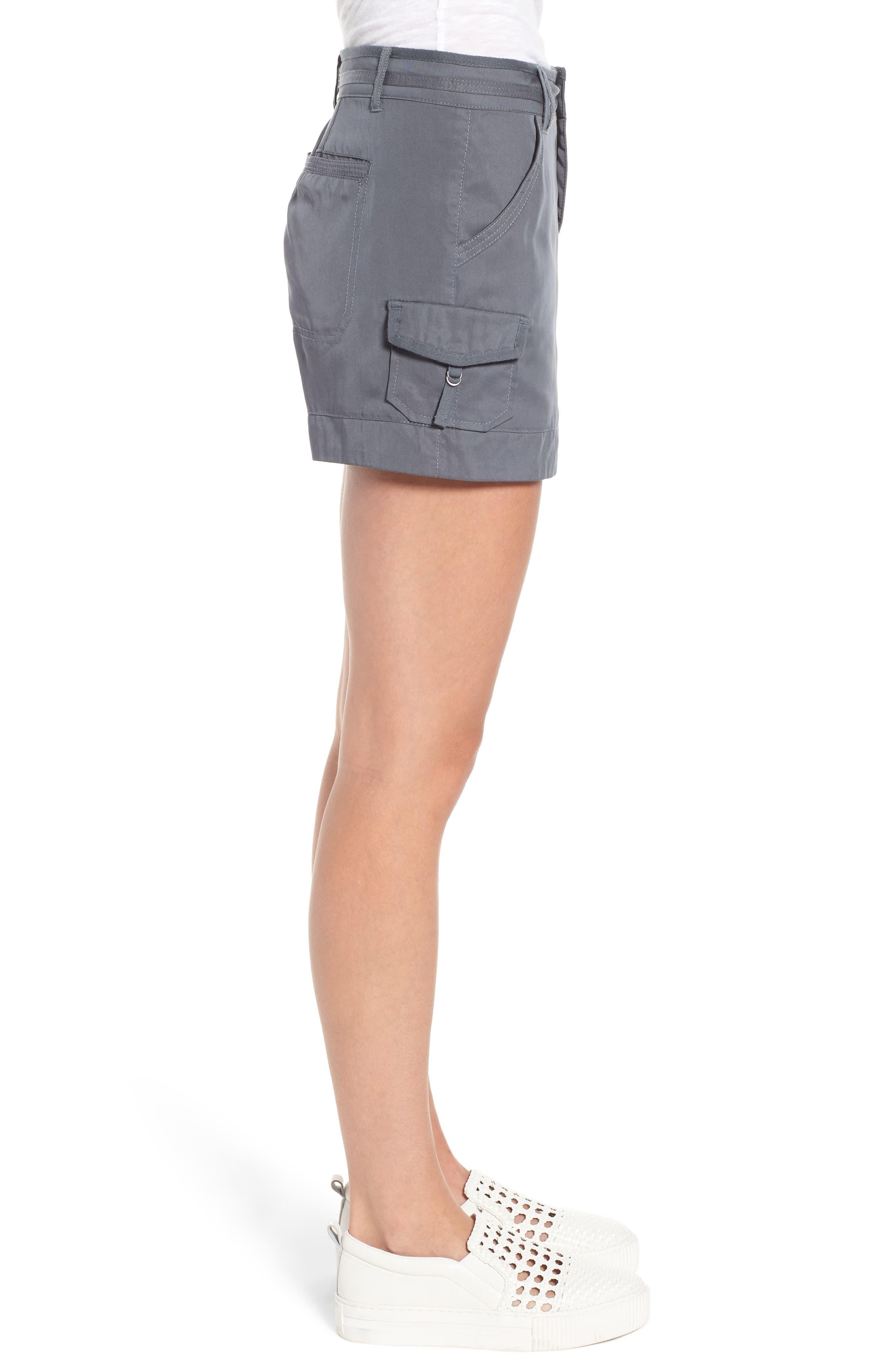 High Rise Tencel Shorts,                             Alternate thumbnail 10, color,
