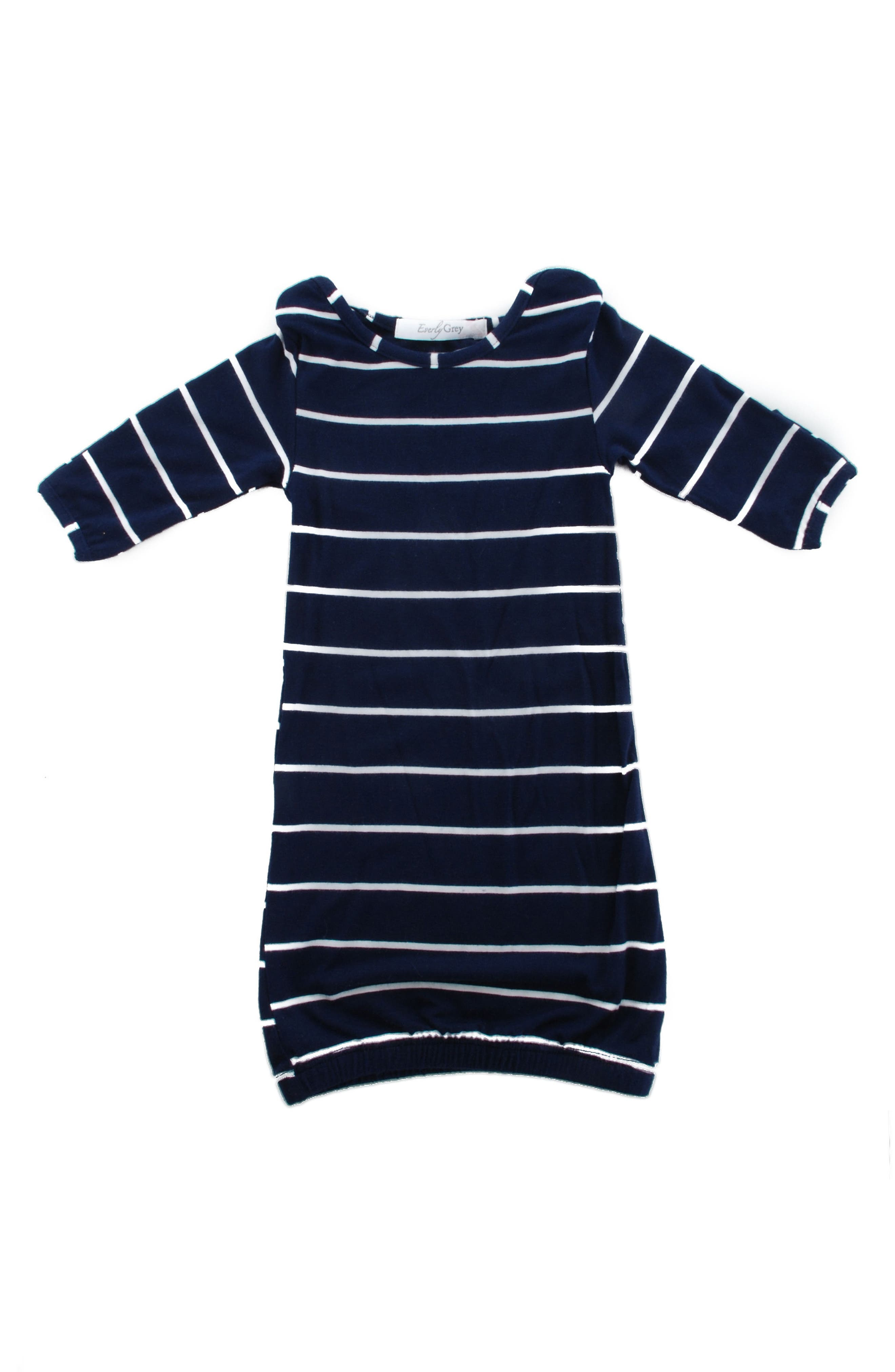EVERLY GREY,                             Adalia 5-Piece Maternity/Nursing Pajama Set,                             Alternate thumbnail 7, color,                             NAVY STRIPE