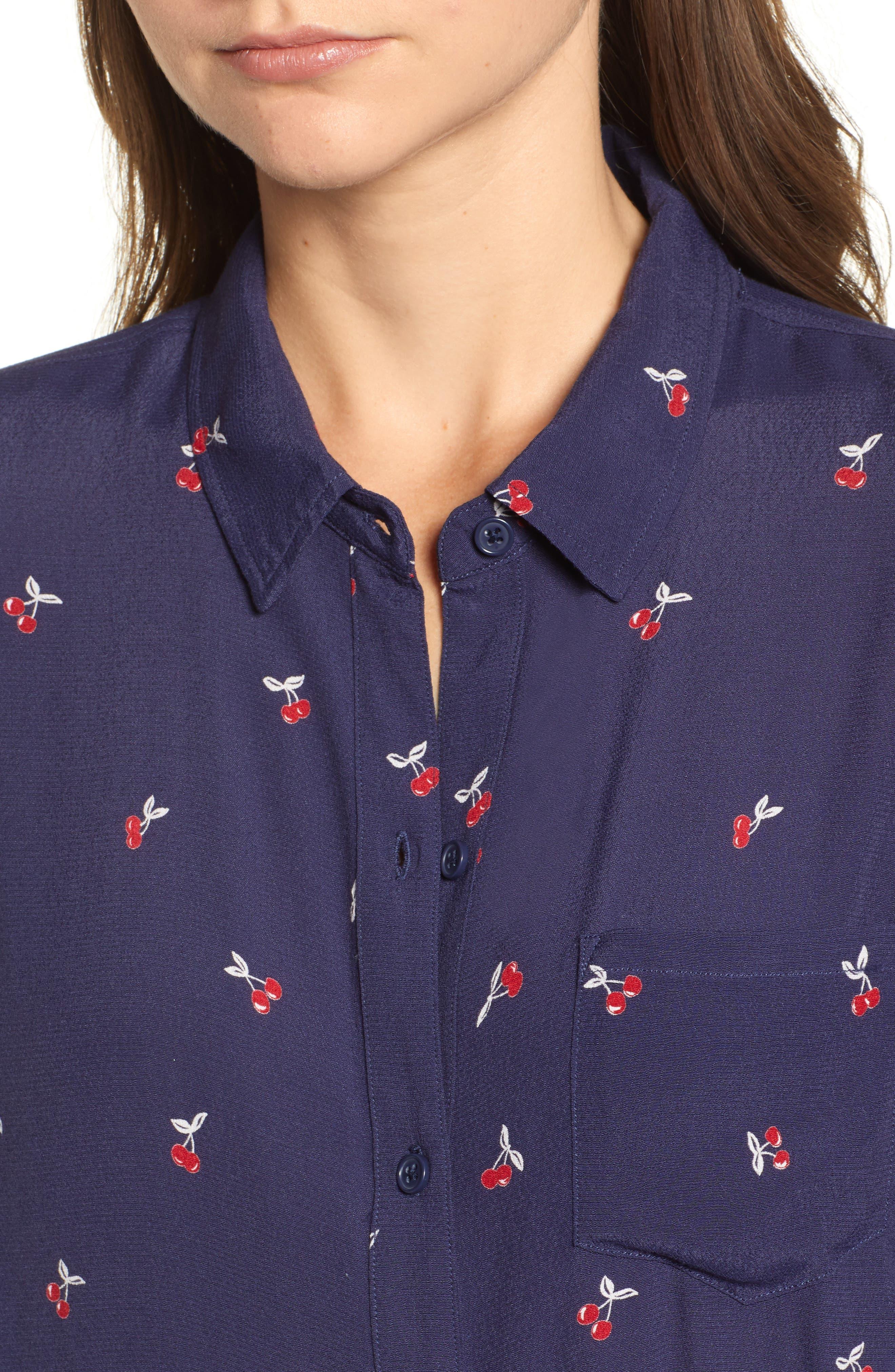Kate Print Shirt,                             Alternate thumbnail 67, color,