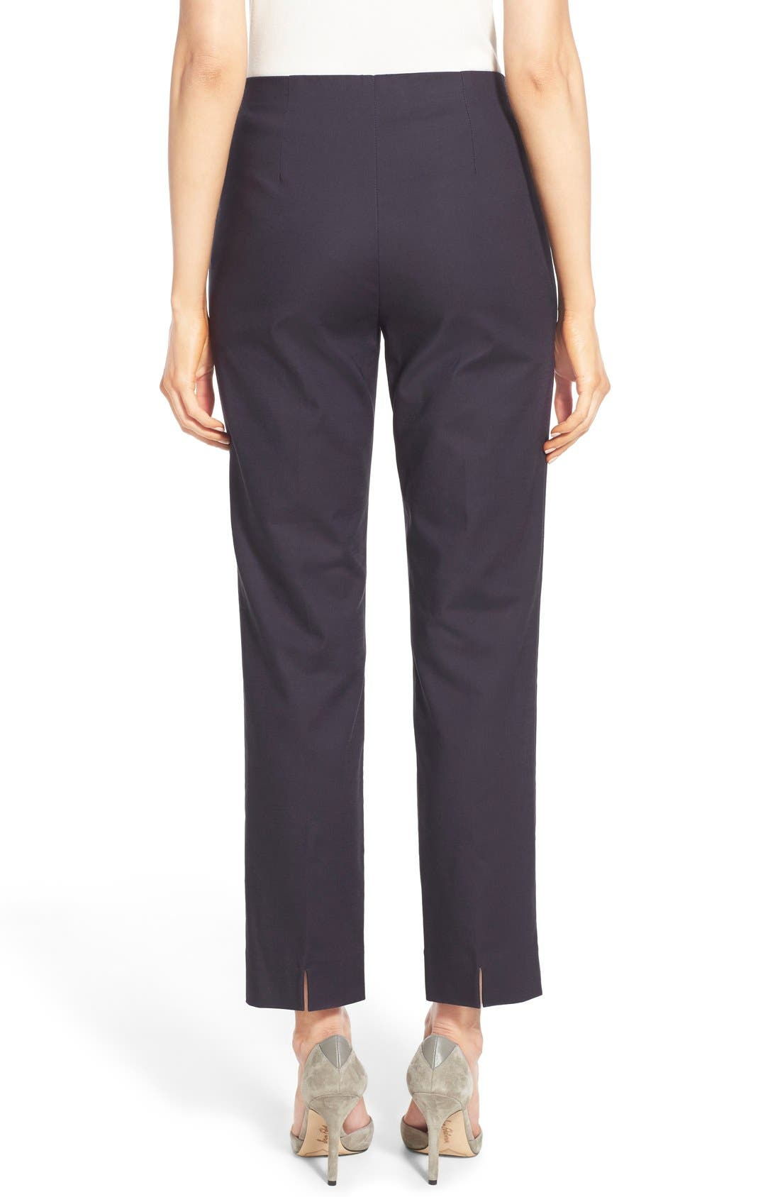 'Perfect' Side Zip Ankle Pants,                             Alternate thumbnail 5, color,                             MIDNIGHT