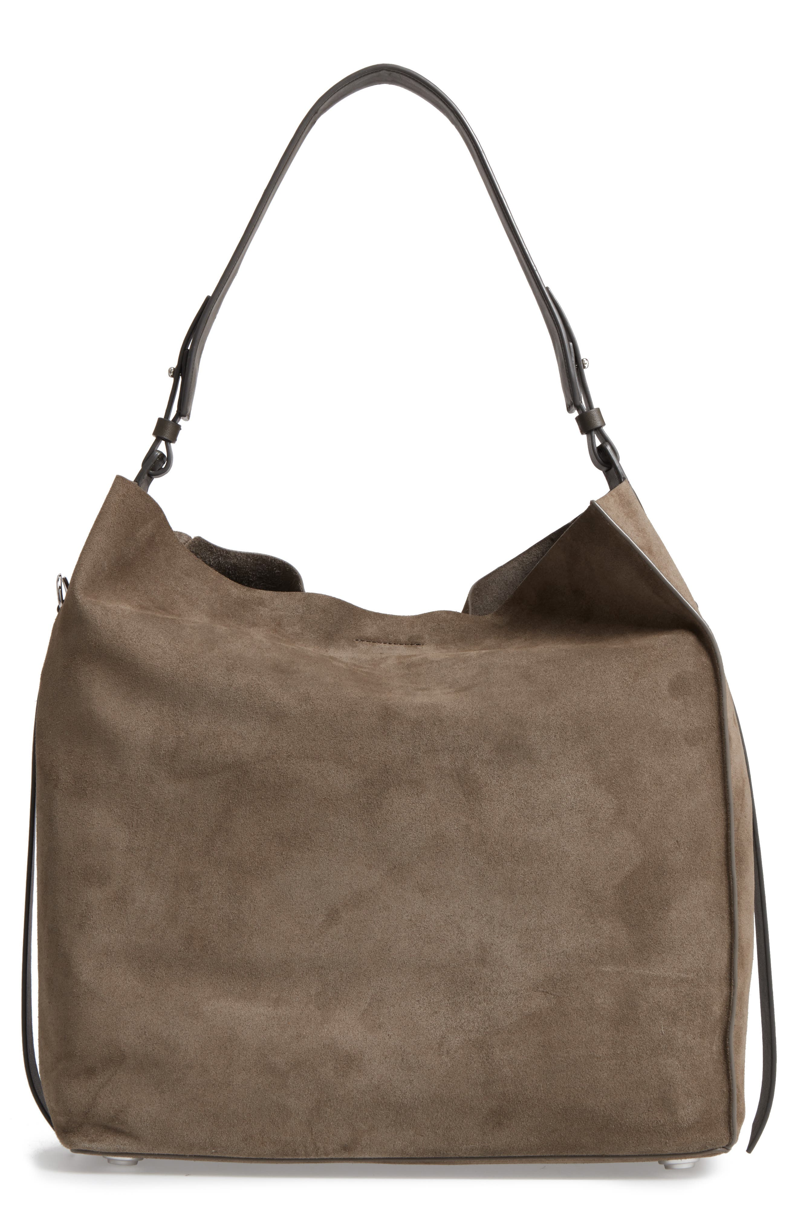'Paradise - North/South' Suede Tote,                             Main thumbnail 1, color,                             024