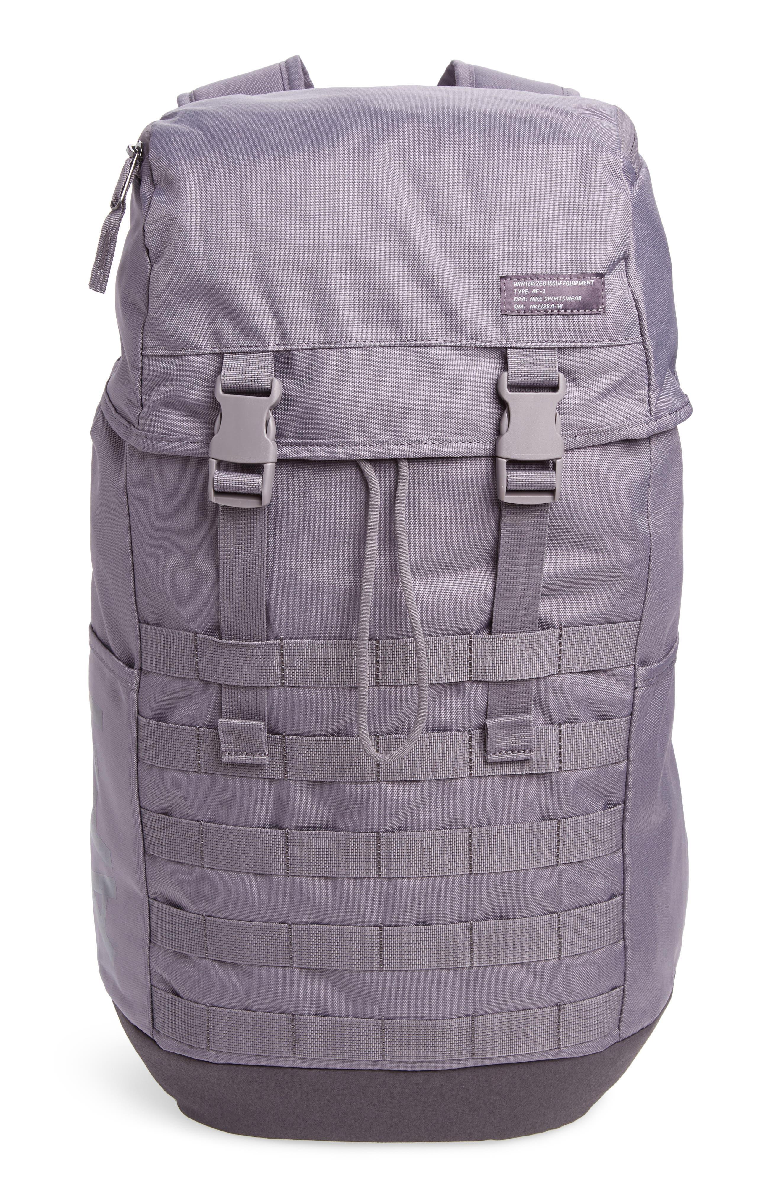 NIKE AF-1 Backpack, Main, color, GUNSMOKE
