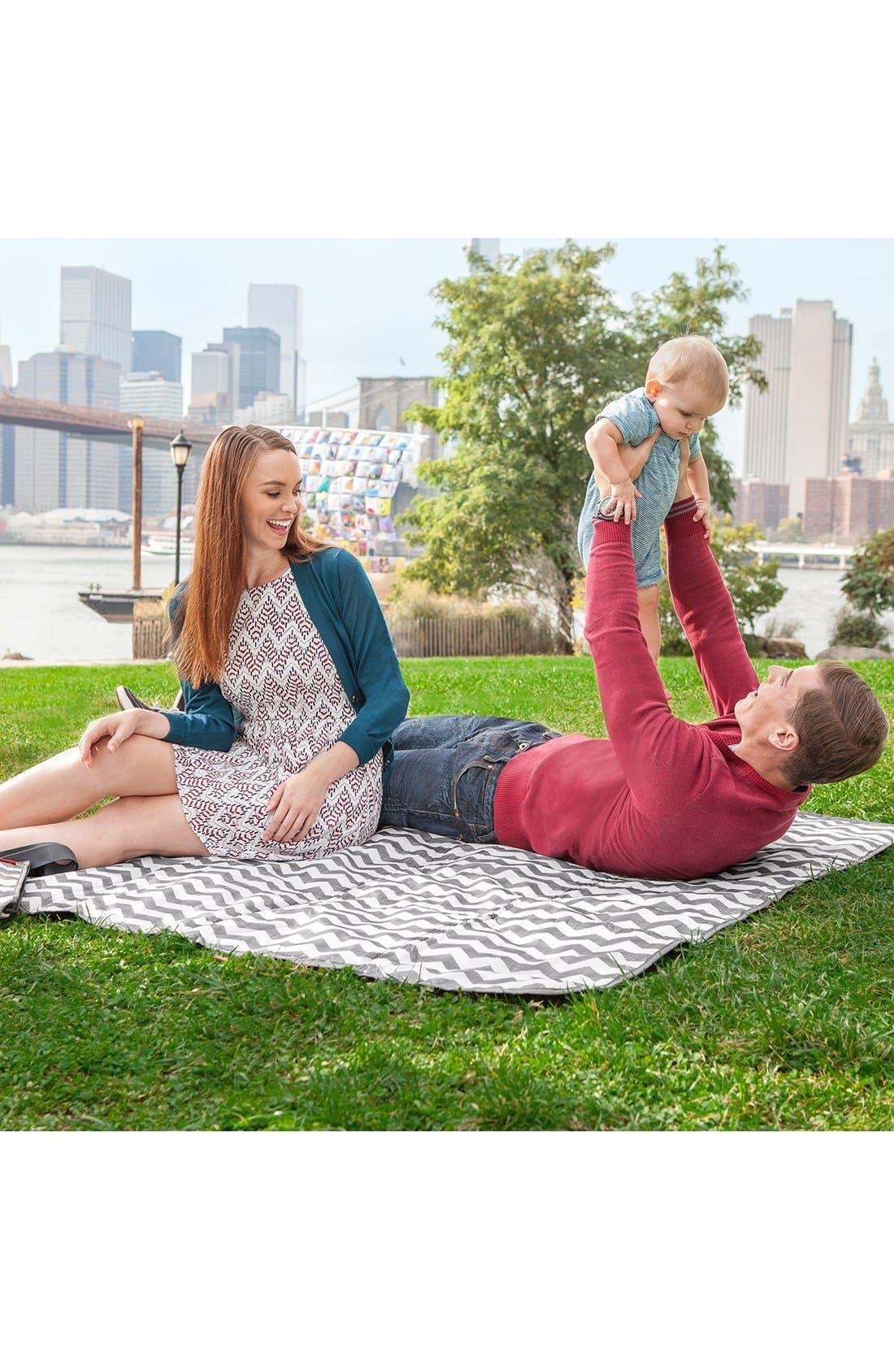 'Central Park' Outdoor Blanket & Cooler Bag,                             Alternate thumbnail 5, color,                             020