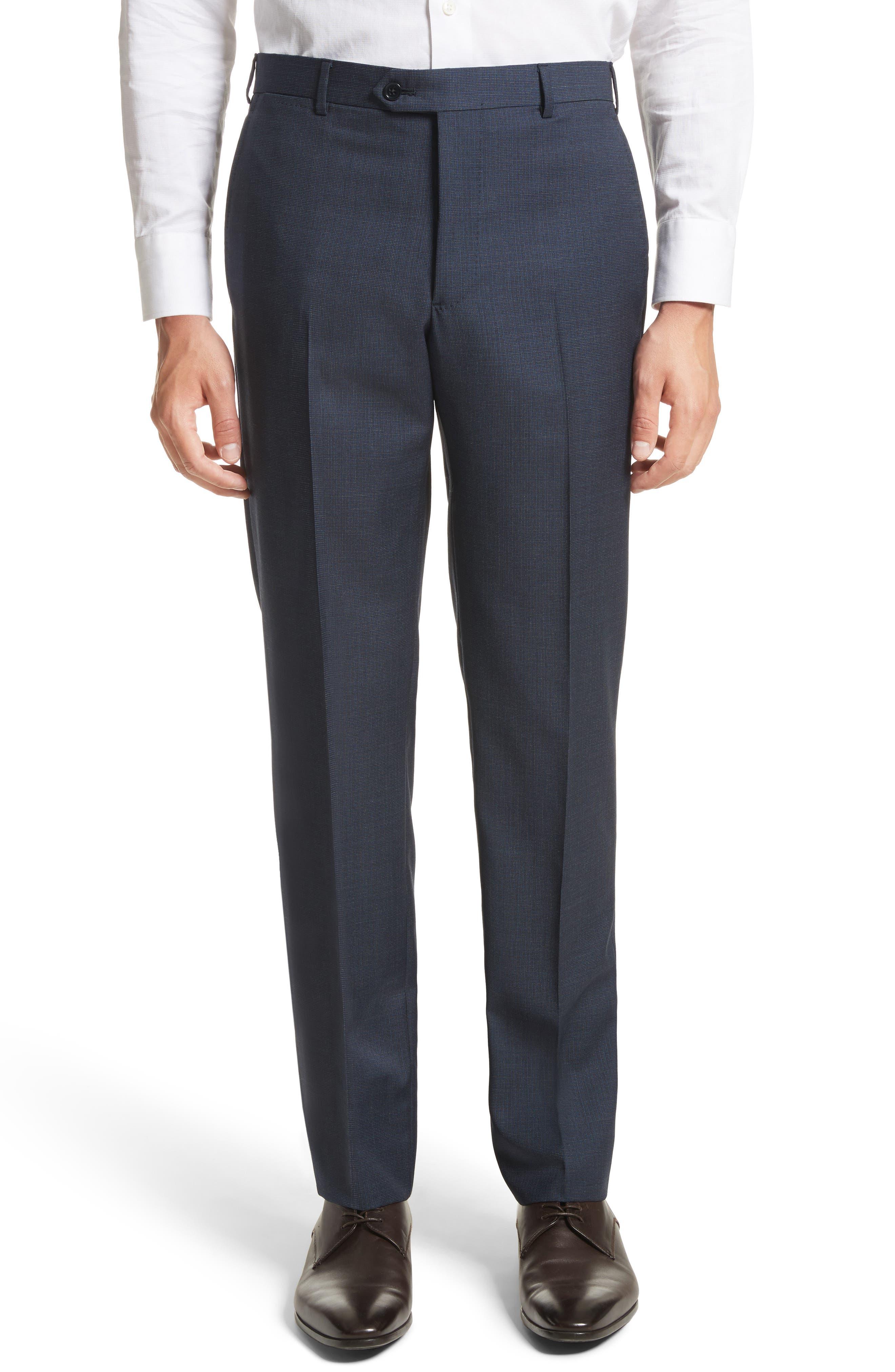 Emporio Armani M-Line Trim Fit Solid Wool Suit,                             Alternate thumbnail 6, color,