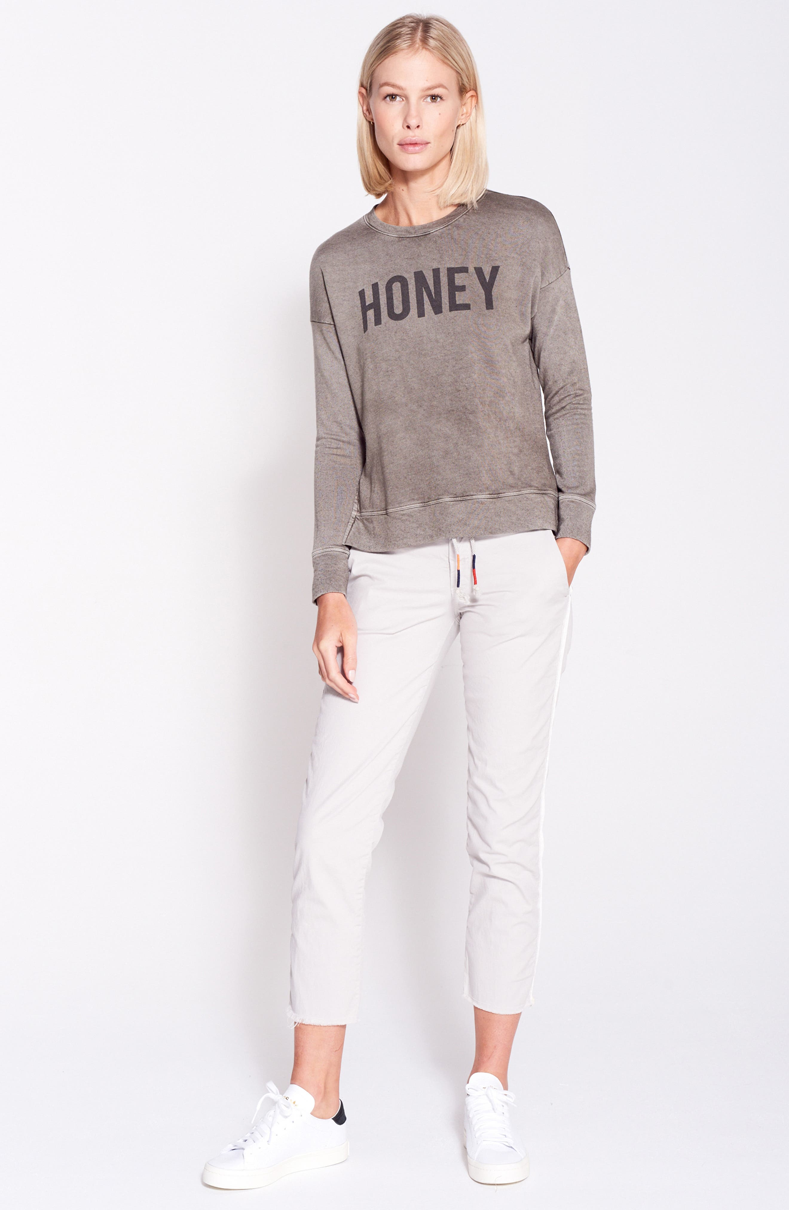 Honey Faded Sweatshirt,                             Alternate thumbnail 7, color,                             300