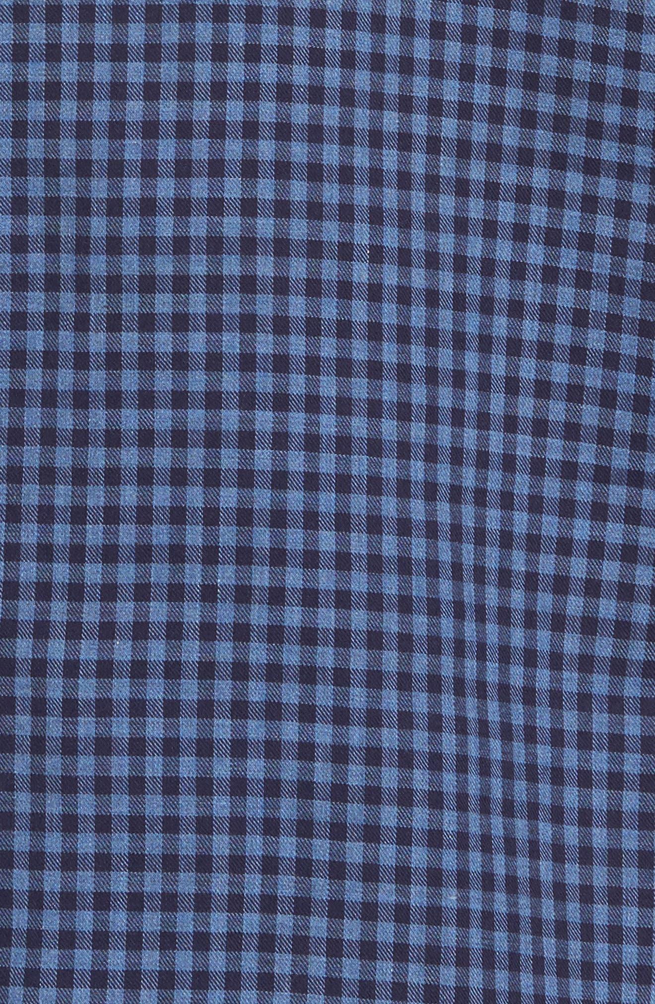 Kennington Regular Fit Gingham Sport Shirt,                             Alternate thumbnail 5, color,                             401