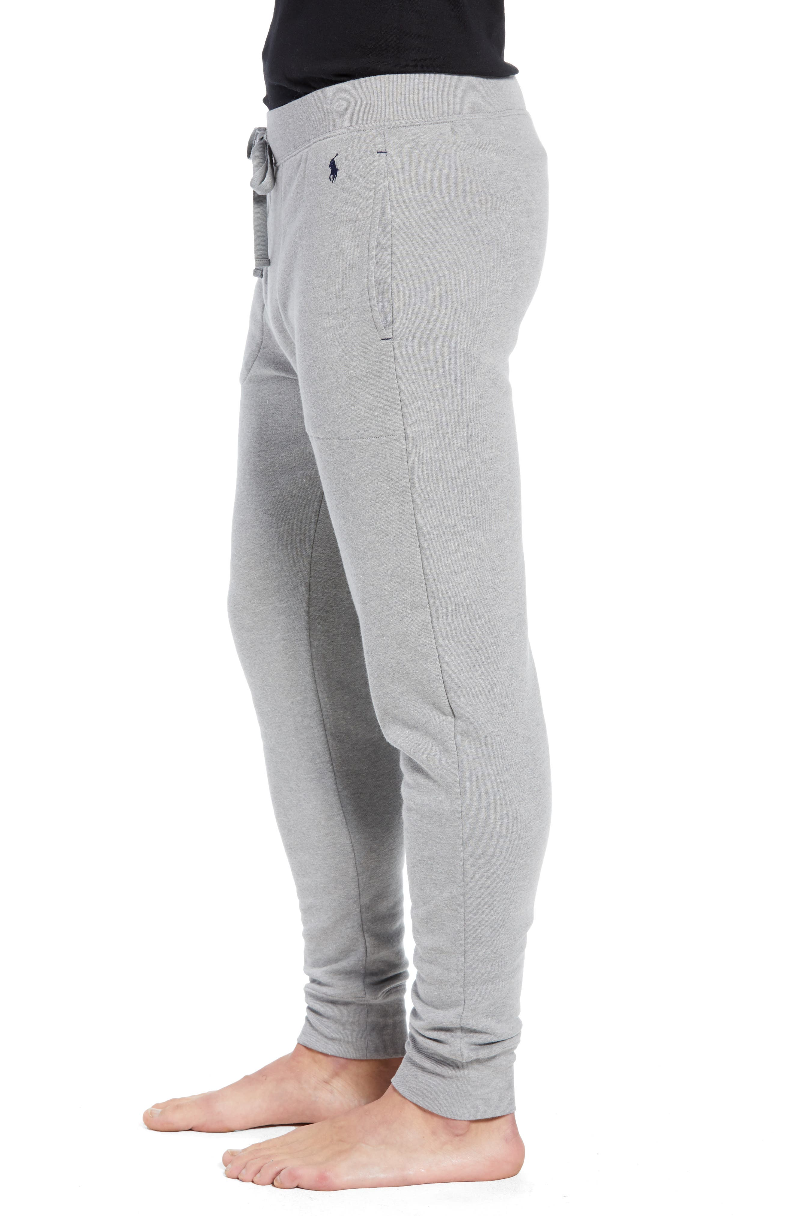 Brushed Jersey Cotton Blend Jogger Pants,                             Alternate thumbnail 3, color,                             ANDOVER HEATHER GREY