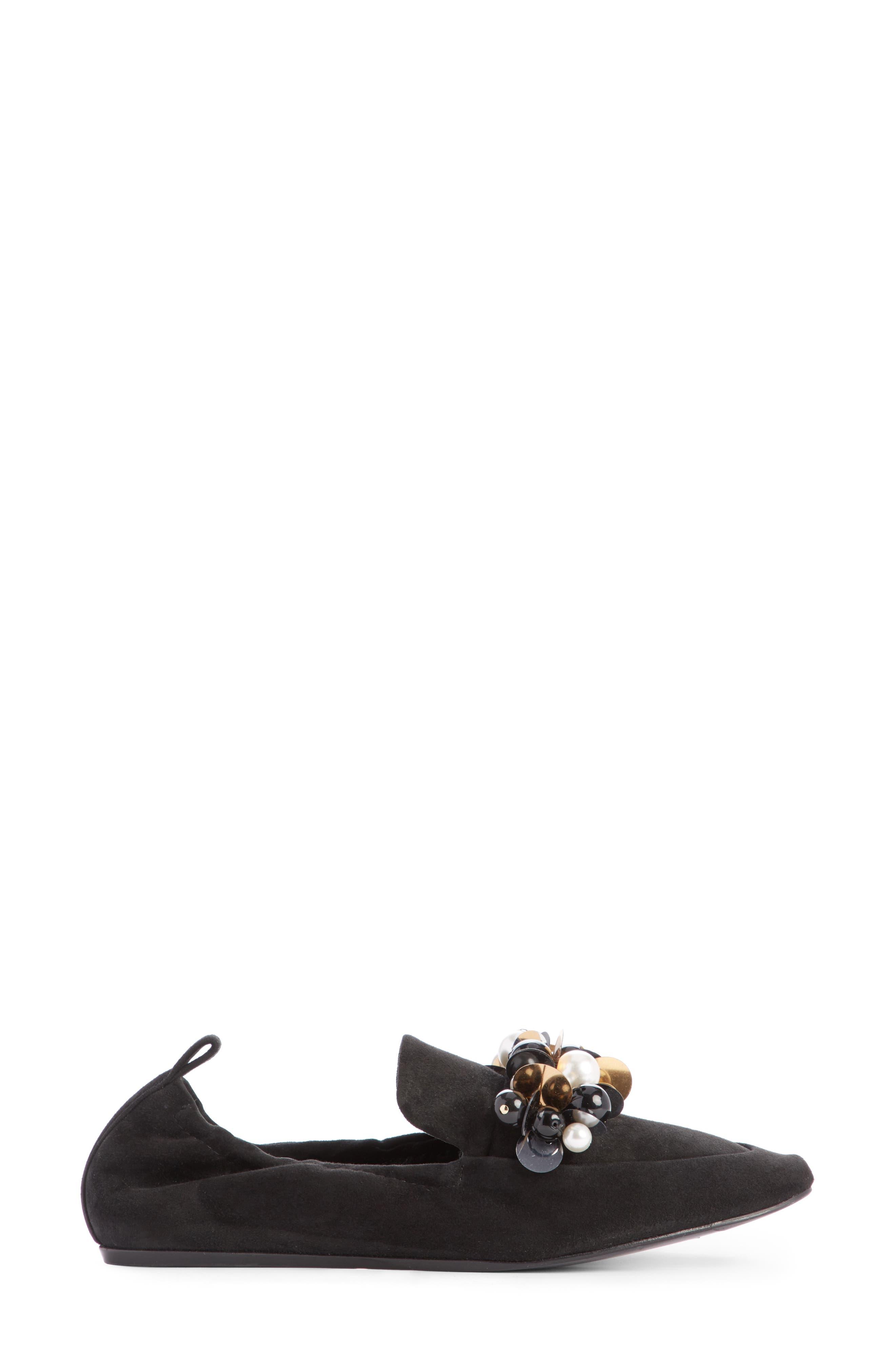 Pearl Slipper Loafer,                             Alternate thumbnail 4, color,                             001
