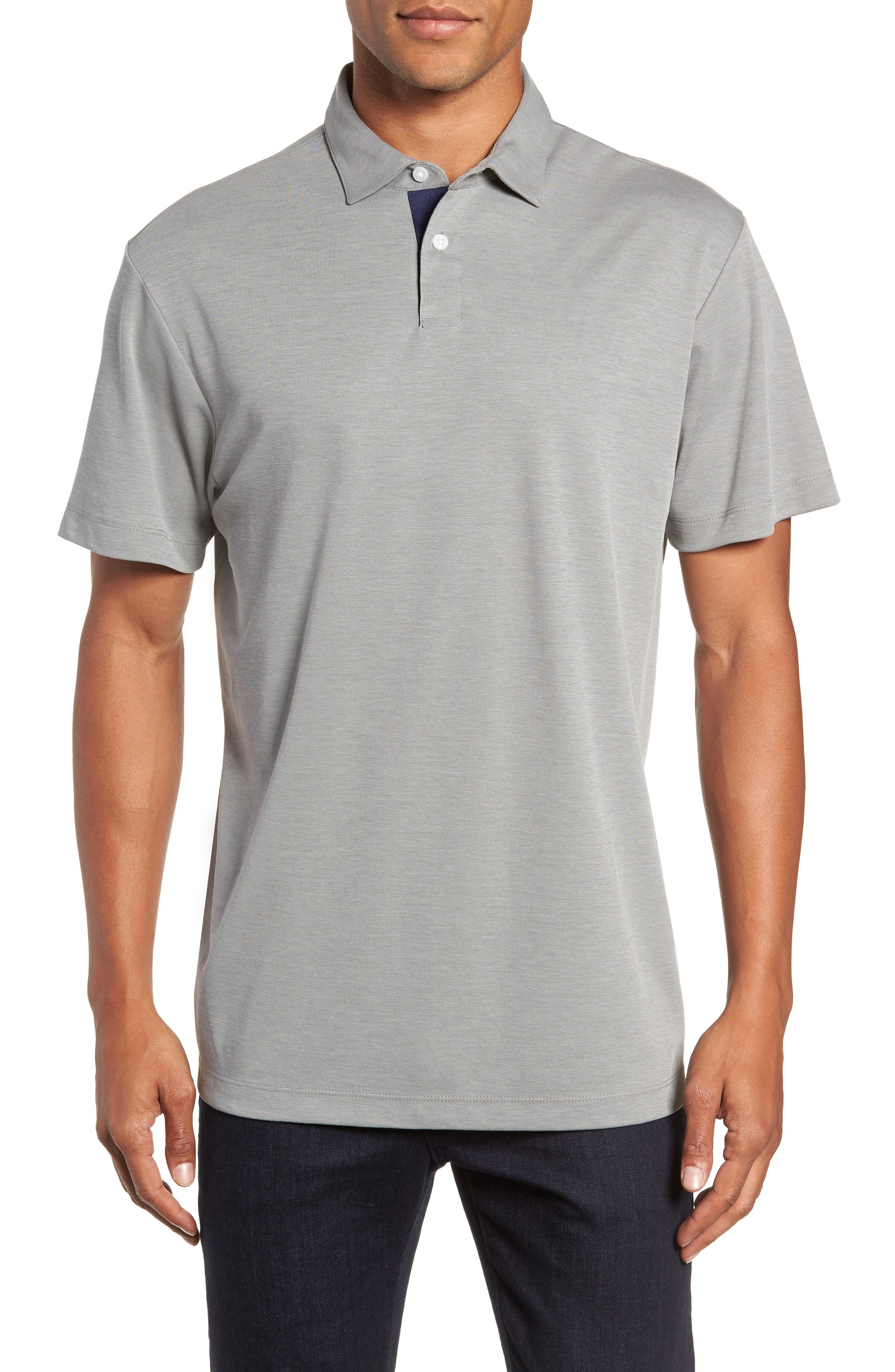 Andrew Regular Fit Piqué Polo,                         Main,                         color, STONE