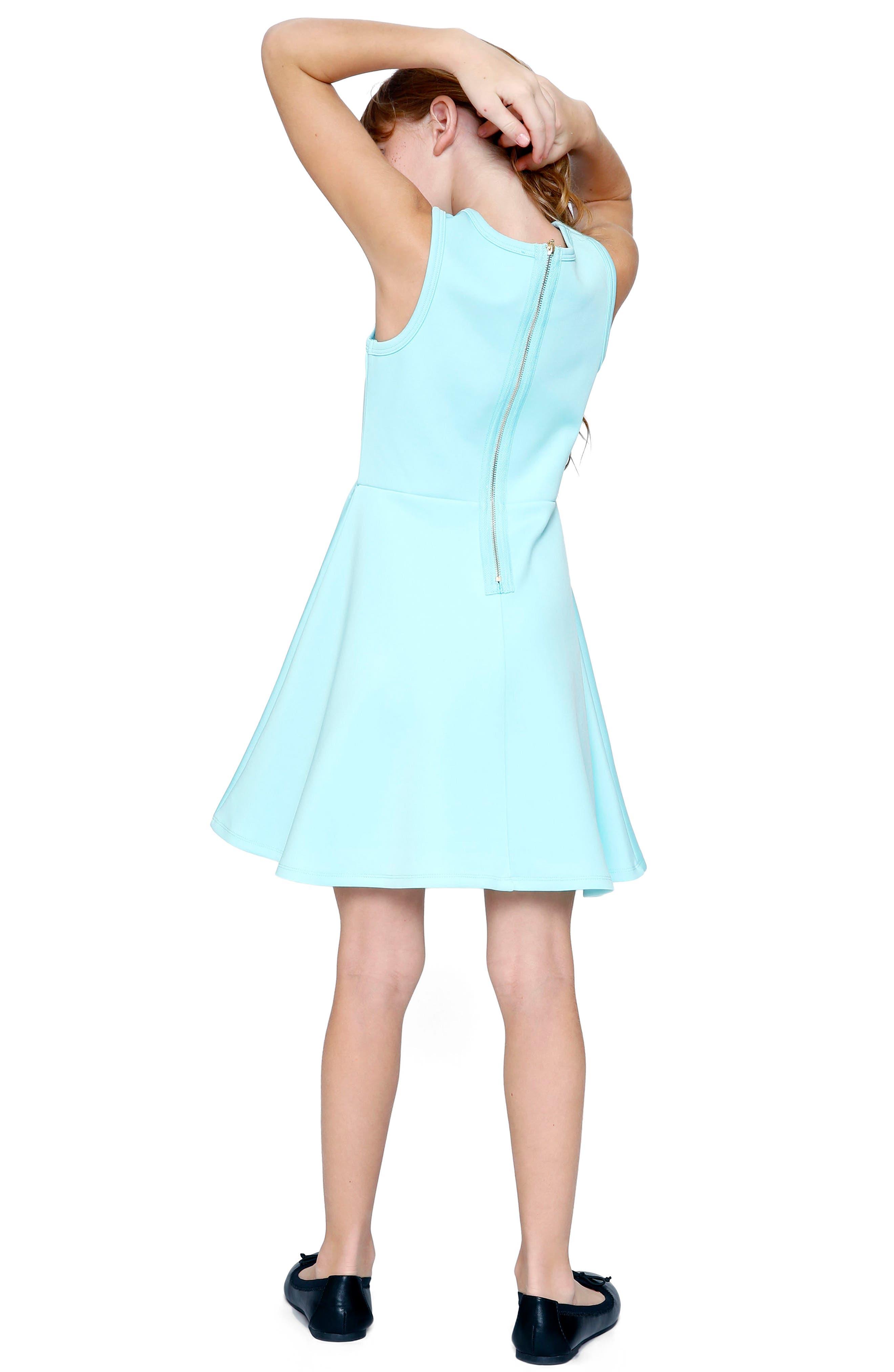 Star Appliqué Skater Dress,                             Alternate thumbnail 6, color,