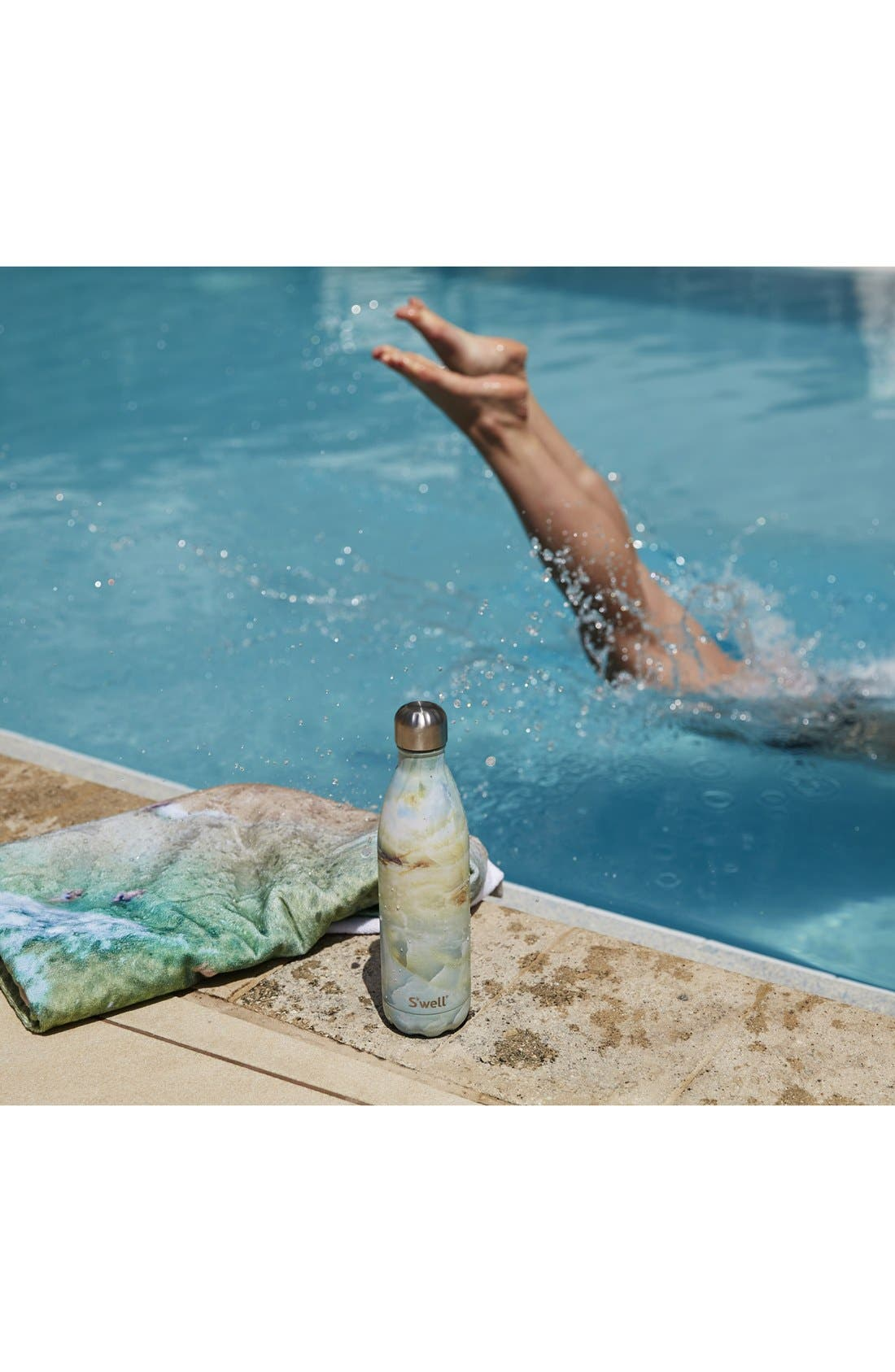Elements Collection - Opal Marble Stainless Steel Water Bottle,                             Alternate thumbnail 7, color,                             900