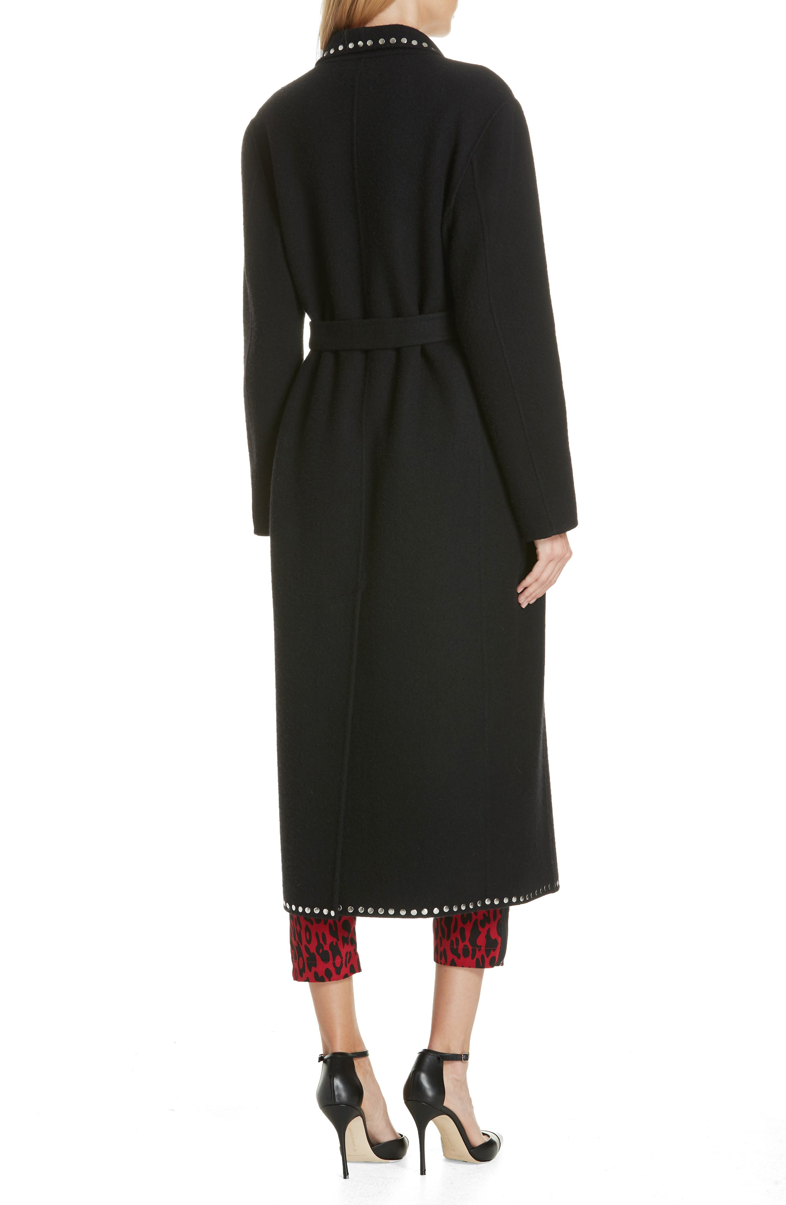 ROBERT RODRIGUEZ,                             Studded Wool Blend Coat,                             Alternate thumbnail 2, color,                             001